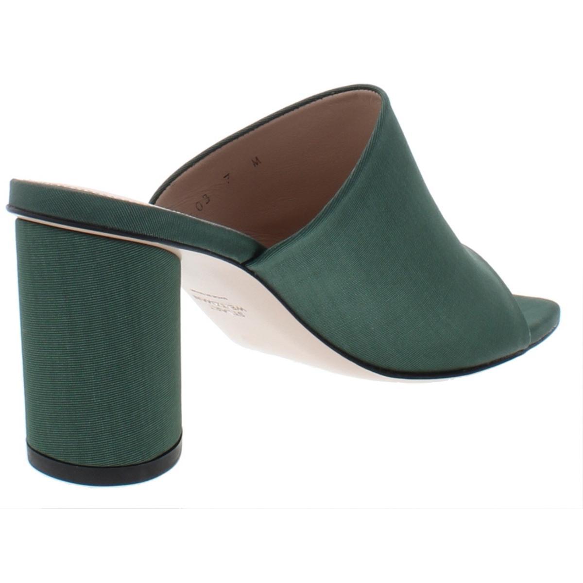 Stuart-Weitzman-Womens-Slide-On-Jacquard-Slide-Sandals-Heels-BHFO-5173 thumbnail 4