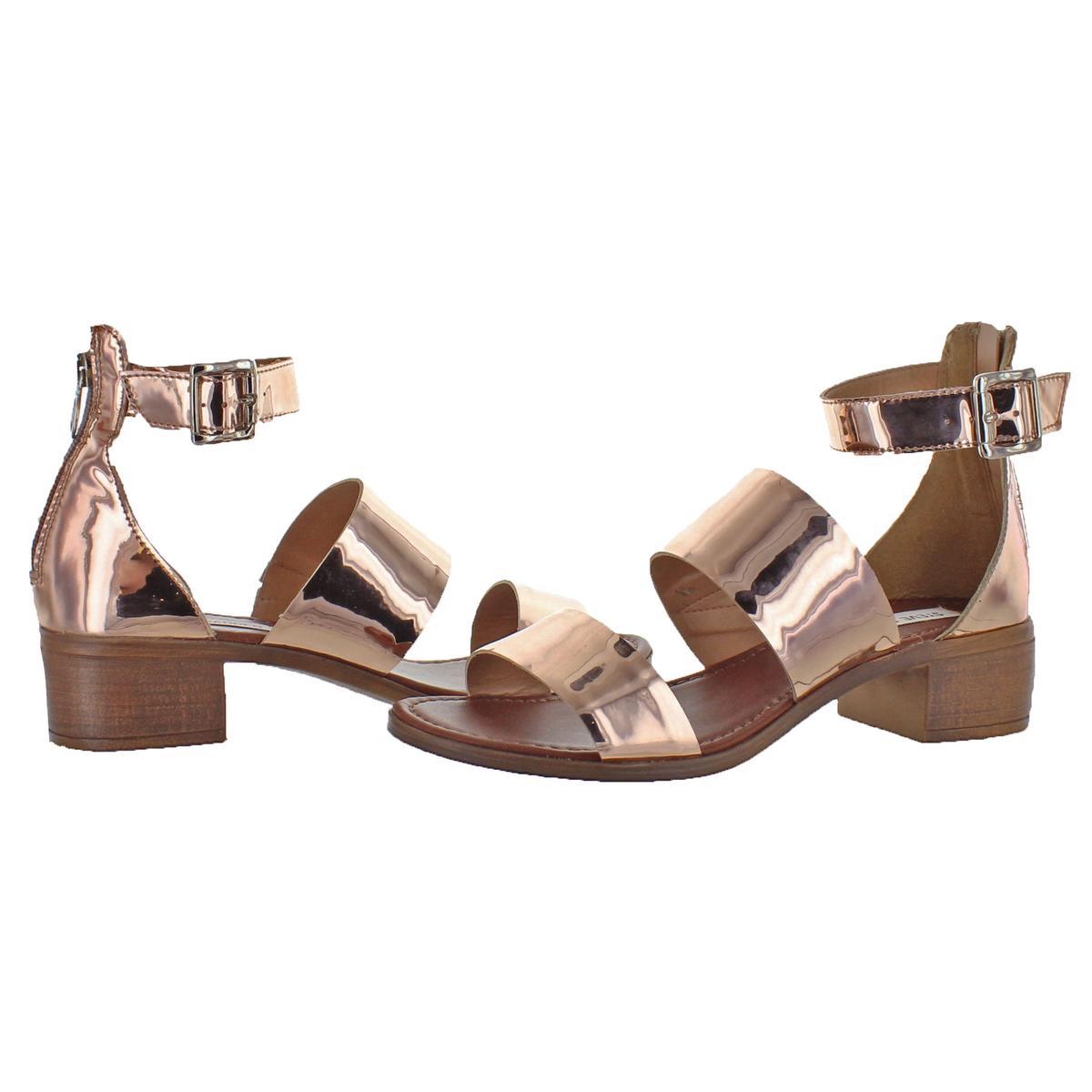 Steve-Madden-Womens-Daly-Leather-Open-Toe-Dress-Heels-Sandals-BHFO-5458 thumbnail 8