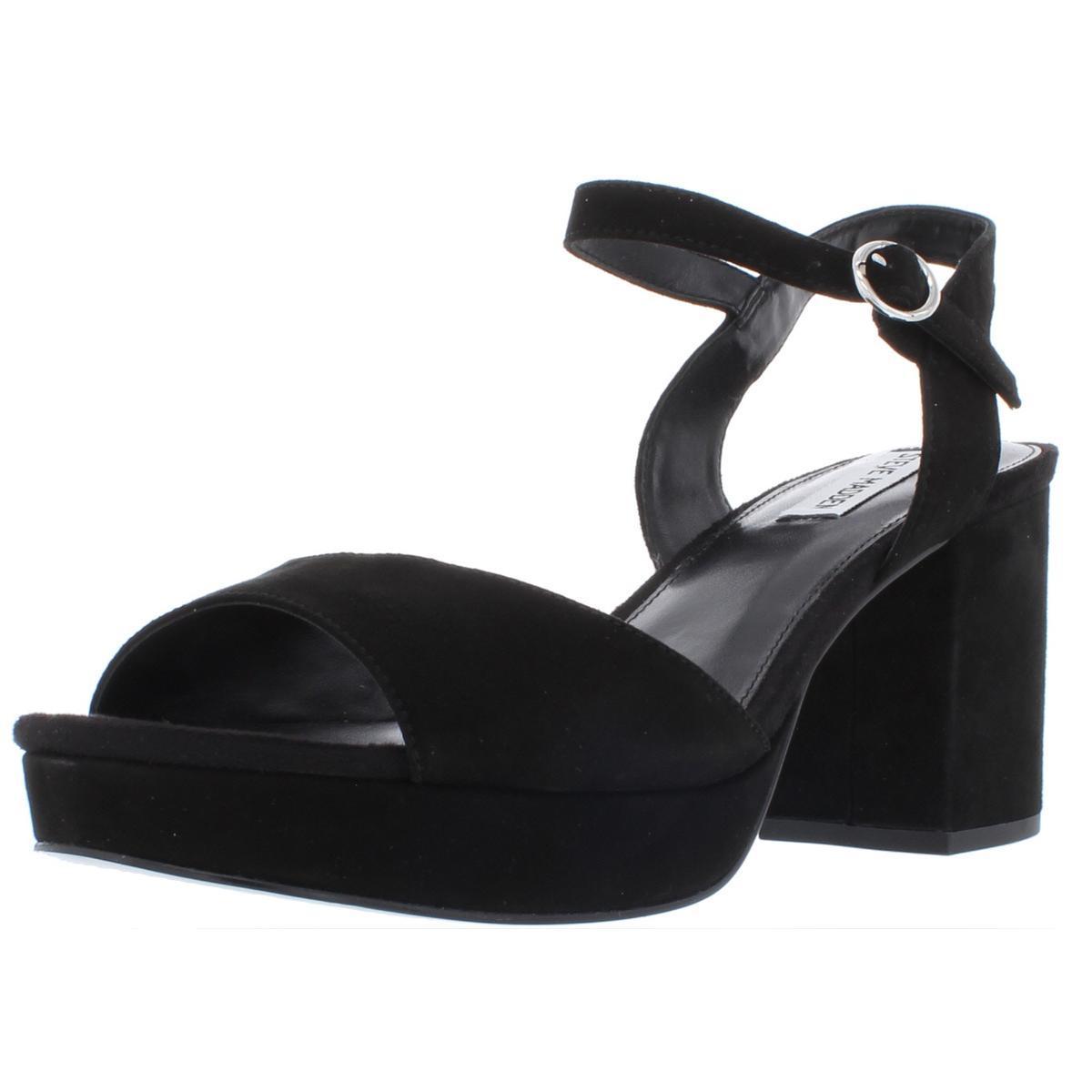 acf0779c7388d Details about Steve Madden Womens Spinner Solid Block Heel Dress Sandals  Shoes BHFO 1805