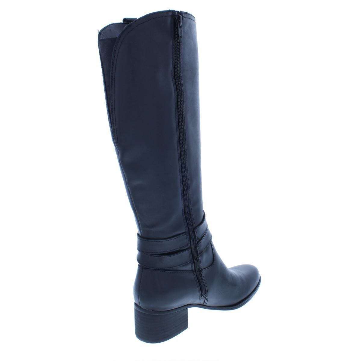 Naturalizer-Womens-Dev-Leather-Riding-Tall-Knee-High-Boots-Shoes-BHFO-4923