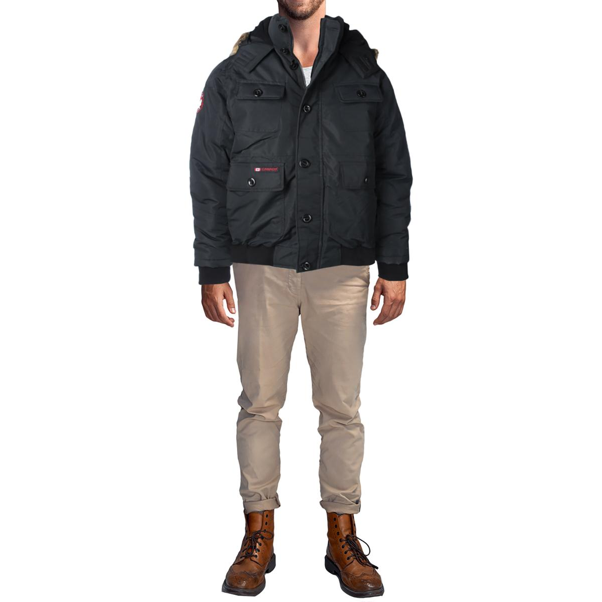 Canada-Weather-Gear-Men-039-s-Heavy-Weight-Faux-Goose-Down-Jacket-Coat