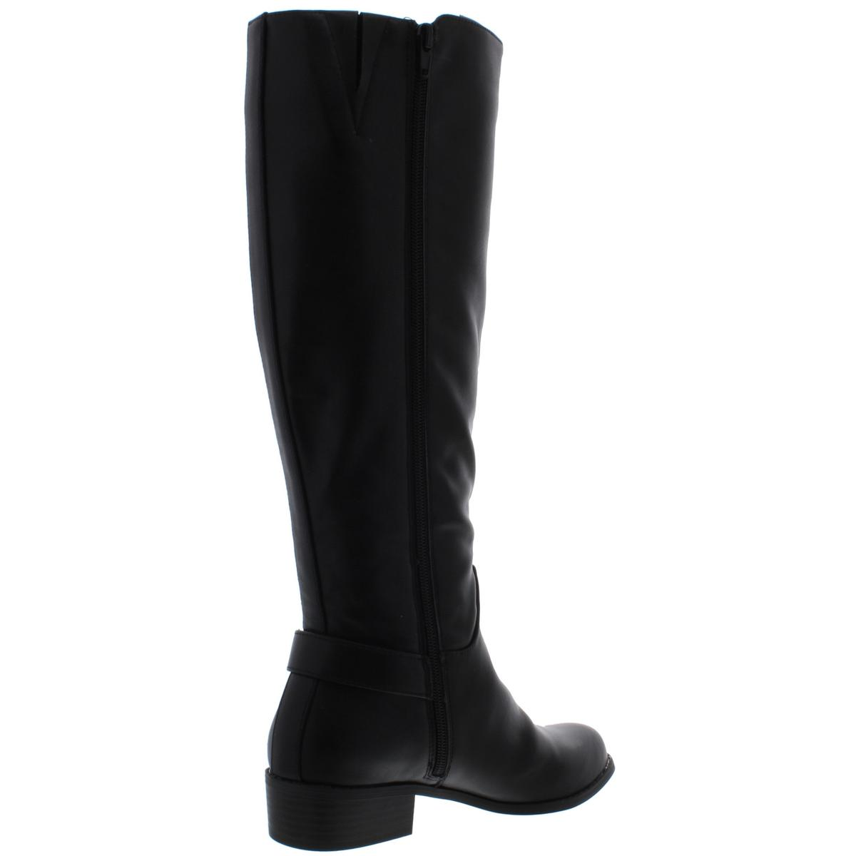 Alfani Womens Kallumm Wide Calf Leather Tall Riding Boots Shoes BHFO 4240