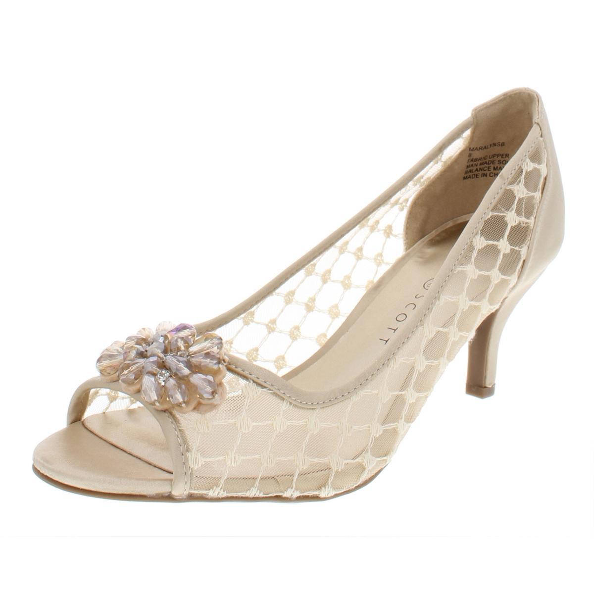 16c77bd8451 Details about Karen Scott Womens Maralyn Embellished Rhinestone Evening  Heels Shoes BHFO 7257
