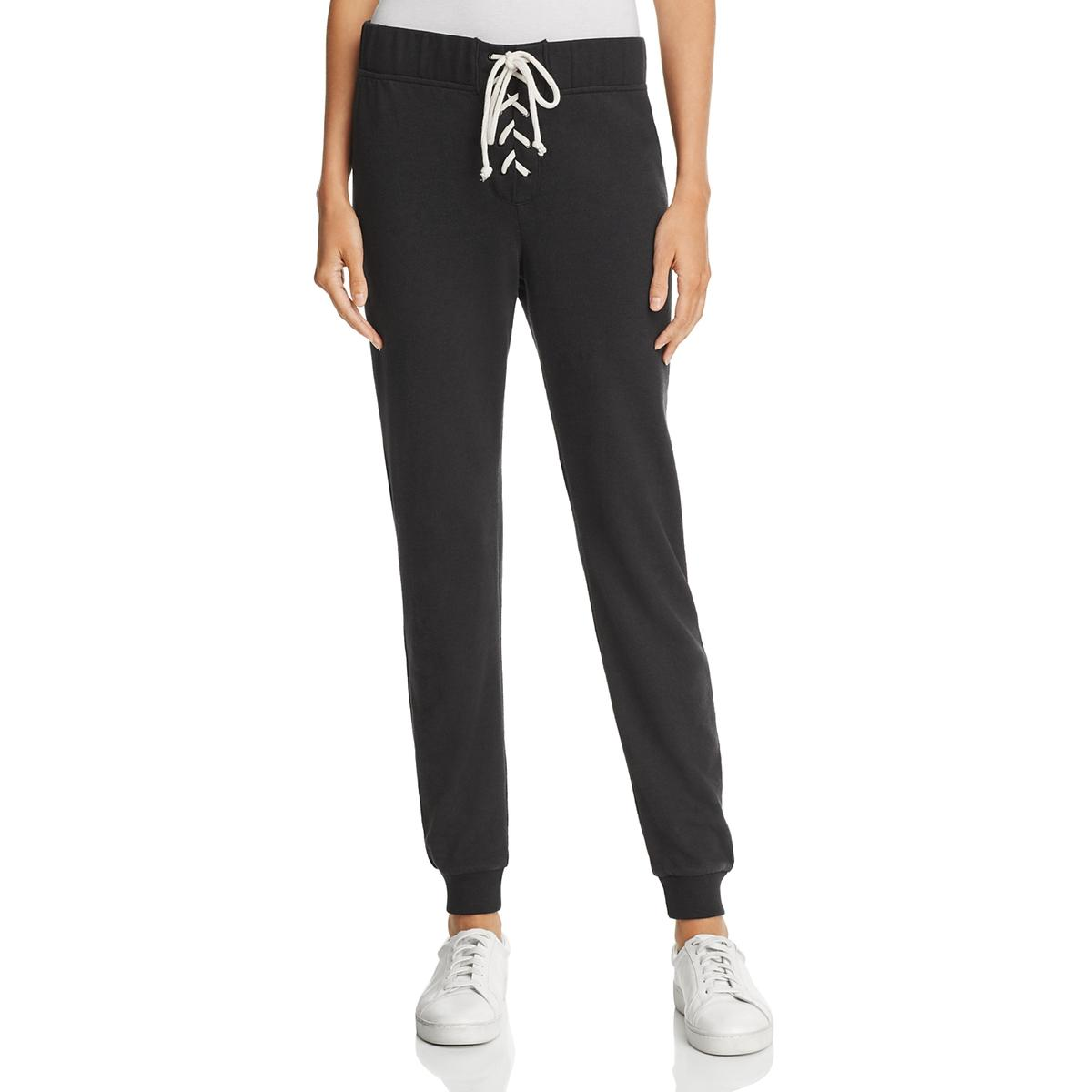 545330fb Alternative Apparel Womens Black Lace-Up Casual Jogger Sweatpants S ...