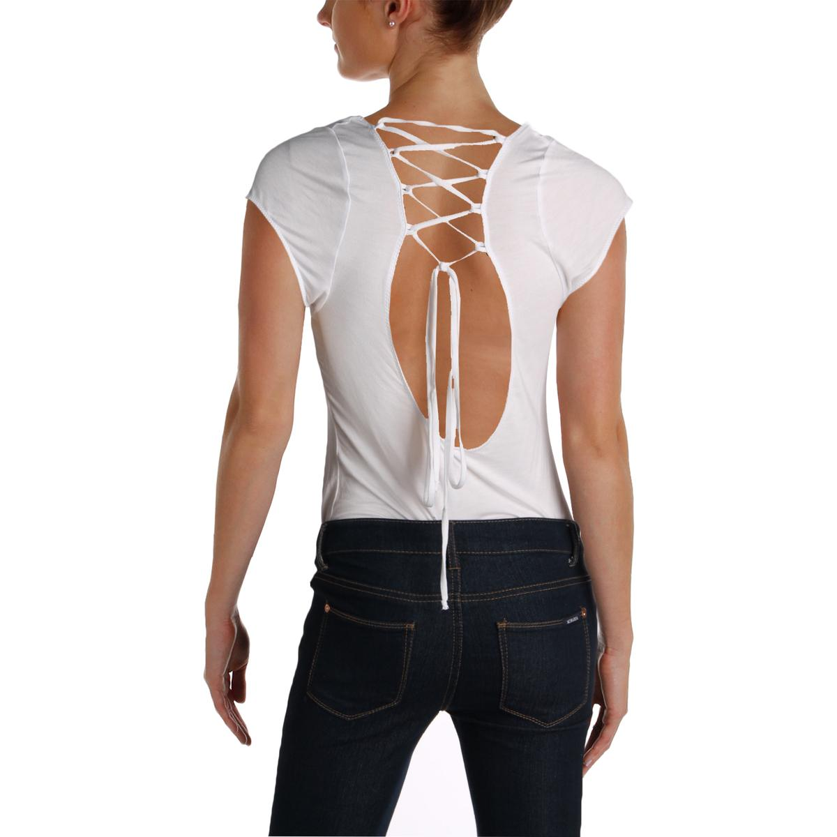 Intimately Free People Womens All About The Back Lace Up Bodysuit ... b4b7d32a4