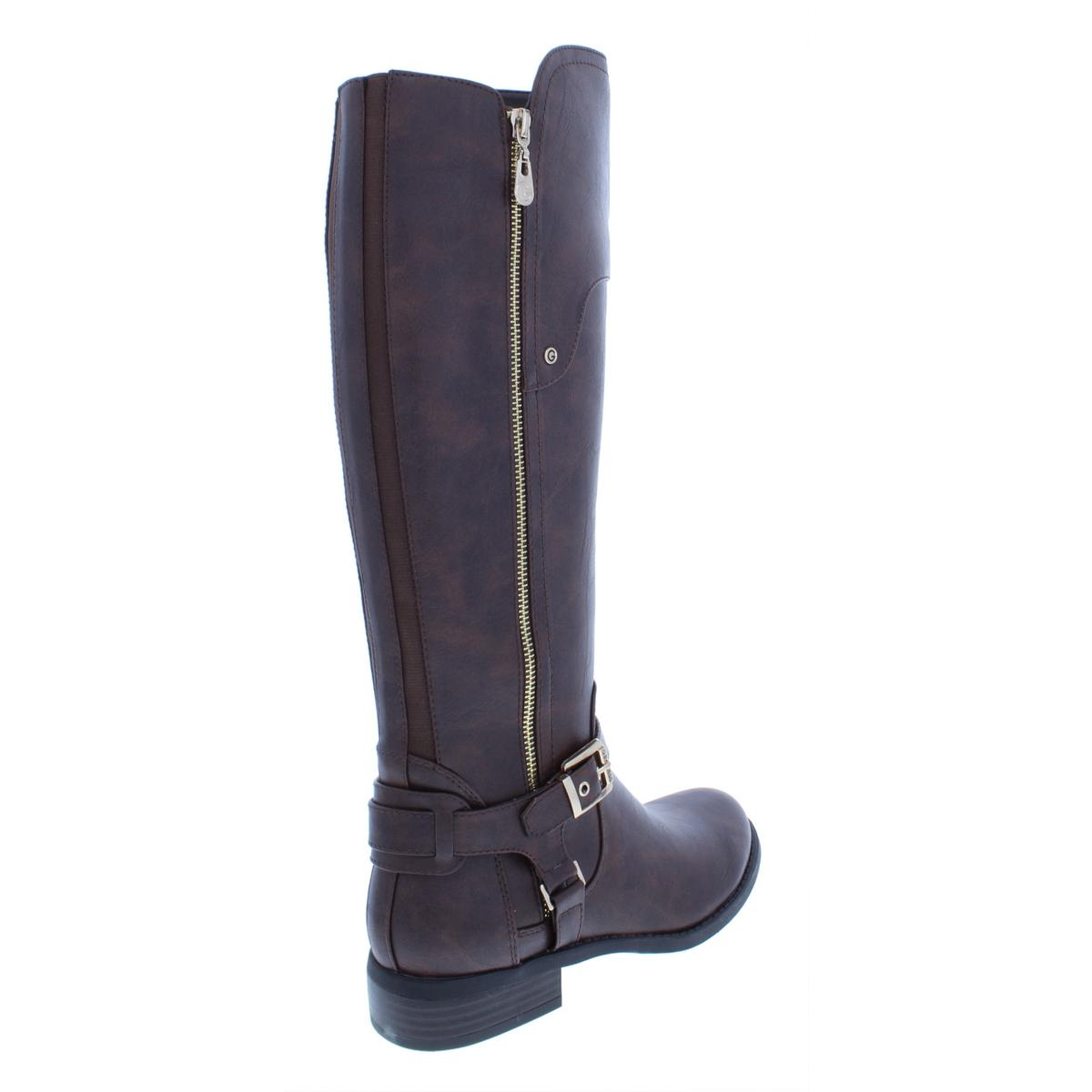 c1b1b38f670 G by Guess Womens Harson Faux Leather Riding Over-The-Knee Boots ...
