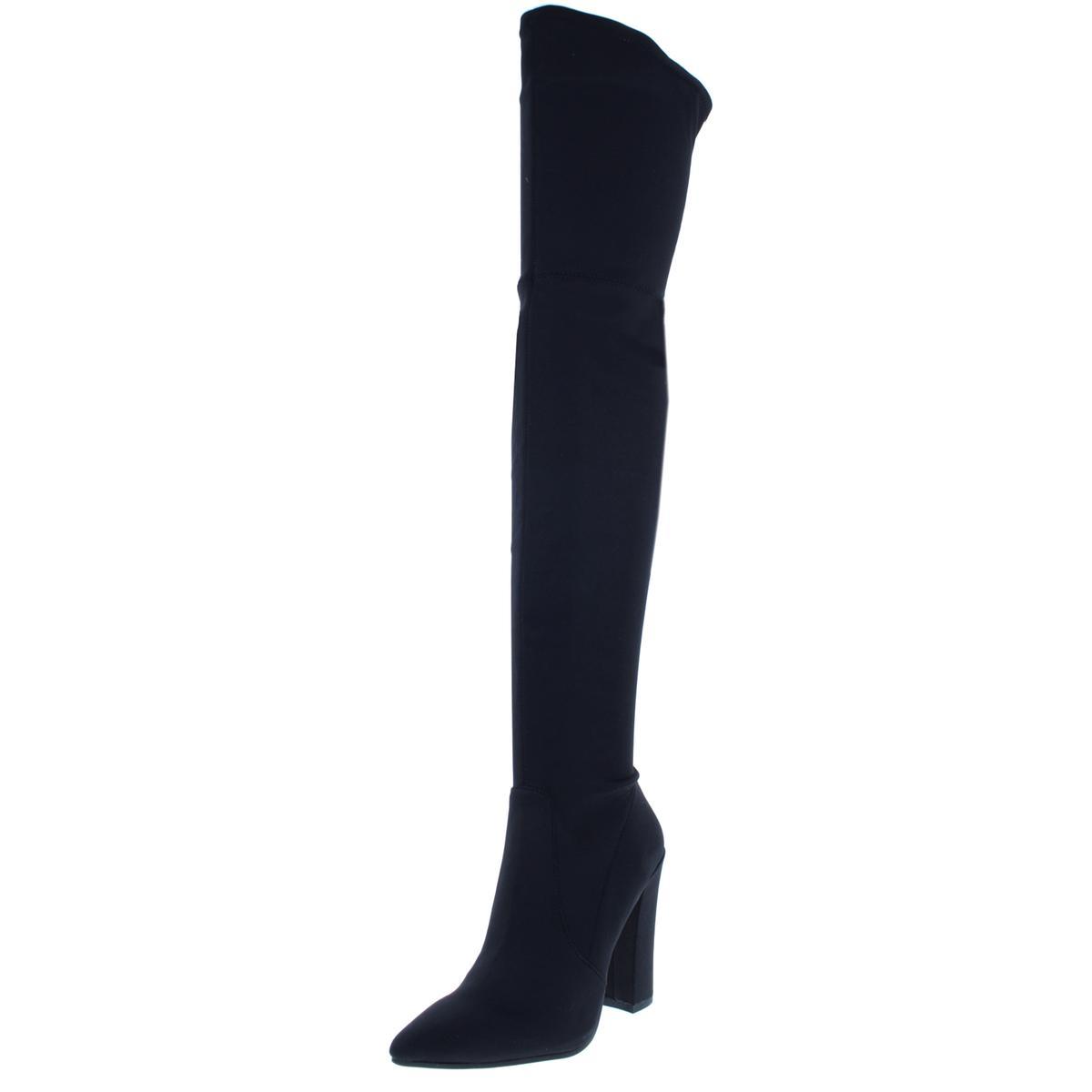 7d56c5dcddd Details about Dolce Vita Womens Ellis Black Thigh-High Boots Shoes 6 Medium  (B