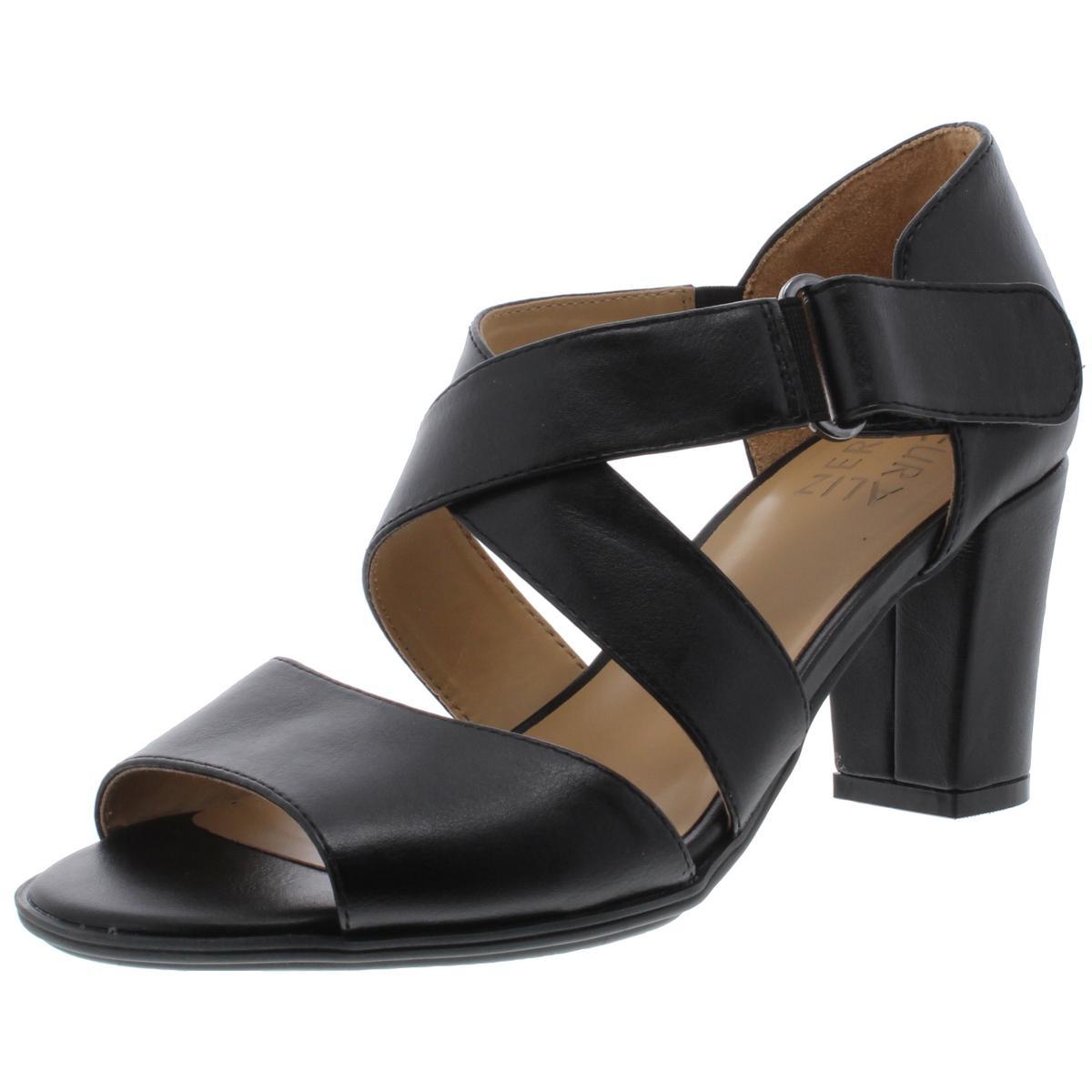 Naturalizer Black Womens Opal Espadrille Platform Sandal