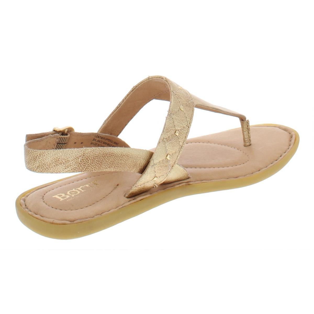 Born-Womens-Garren-Leather-Slingback-Flats-Thong-Sandals-Shoes-BHFO-5209 thumbnail 4