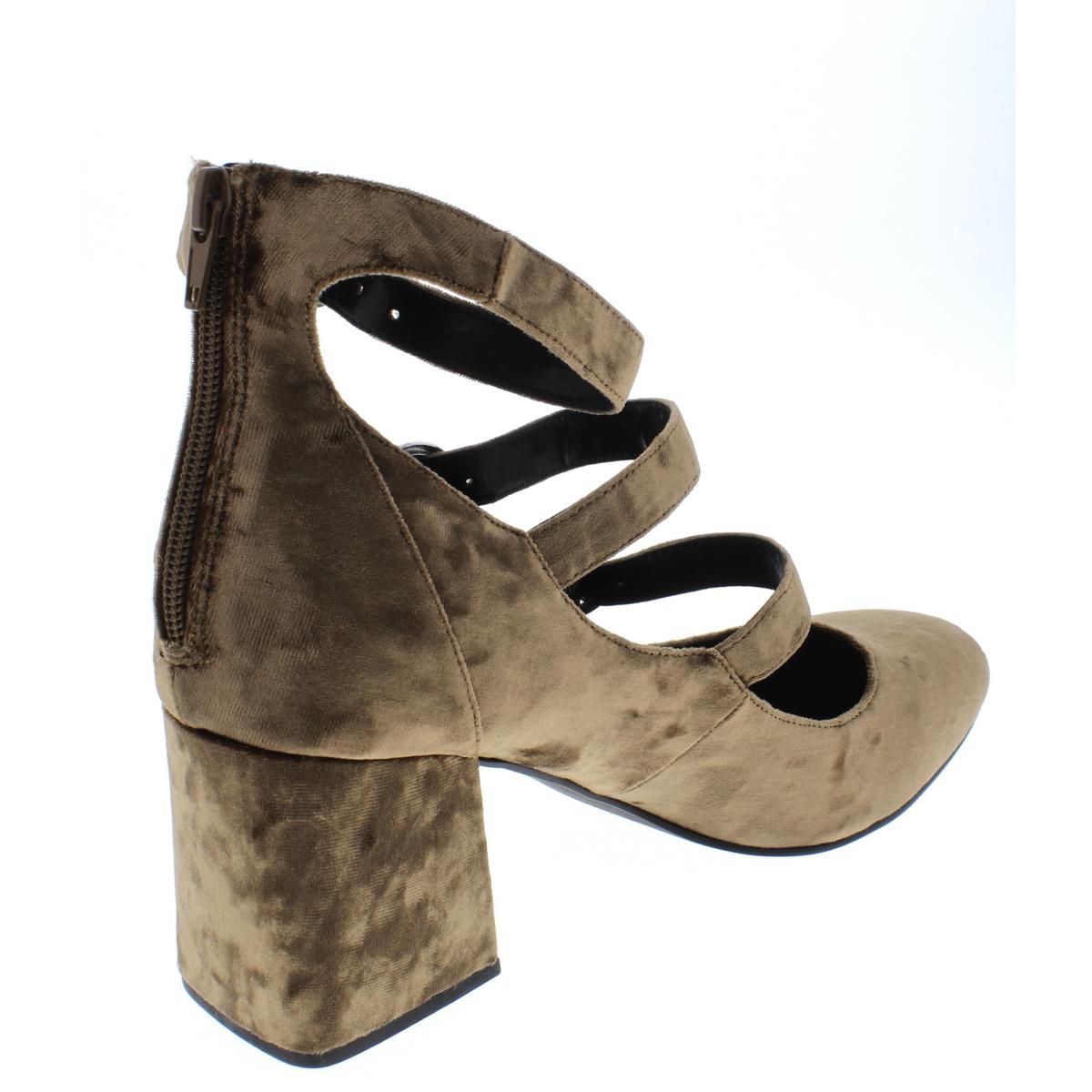 Indigo-Rd-Womens-Jallen-Crushed-Velvet-Dress-Block-Heels-Shoes-BHFO-6024 thumbnail 4