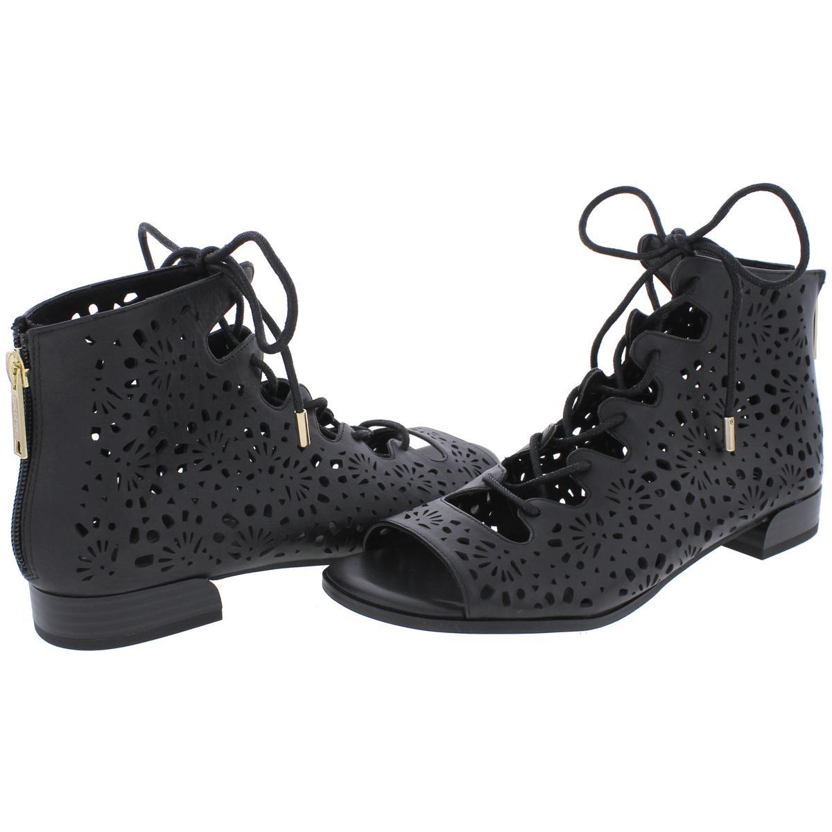 IMNYC-Isaac-Mizrahi-Womens-Lonnie-Leather-Open-Toe-Flat-Sandals-Shoes-BHFO-3034 thumbnail 6
