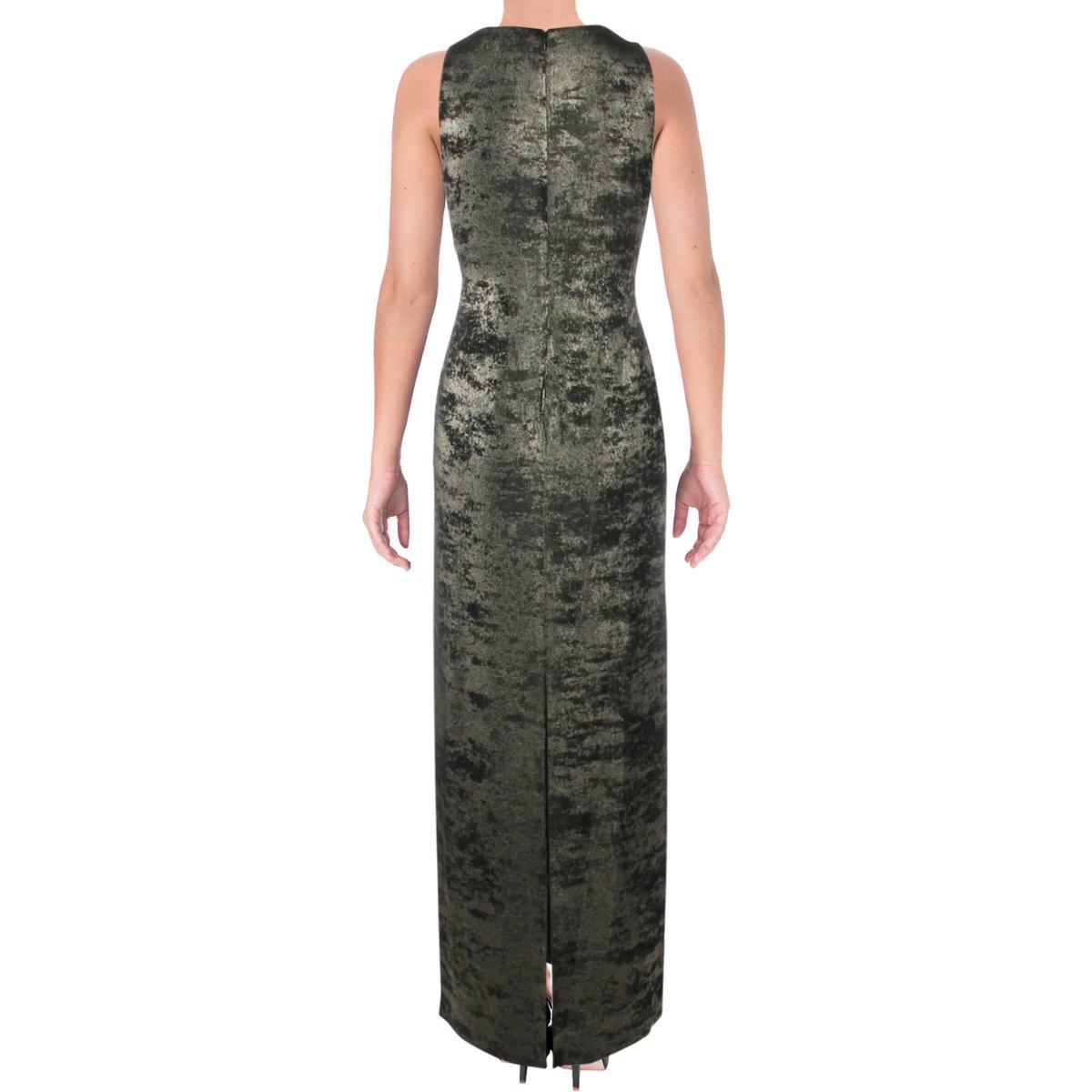 Lauren Ralph Lauren Womens Metallic Surplice Formal Evening Dress Gown BHFO 5336