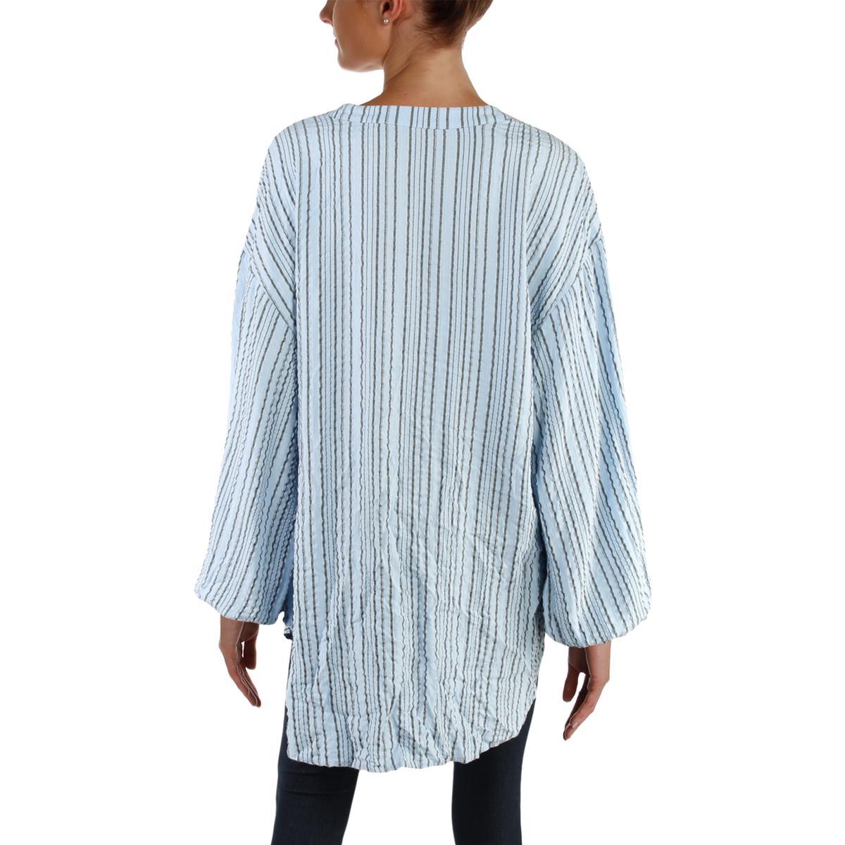 Bishop Bhfo Top Casual 7197 Tunic Shirt Striped Sleeves Womens Free People xwEgAZxP