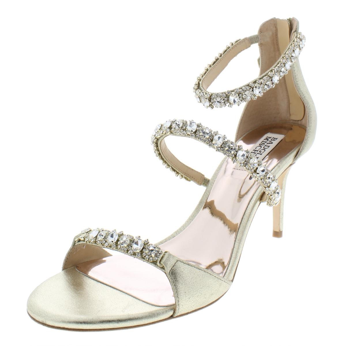 f4d84f7940c3 Details about Badgley Mischka Womens Yasmine Gold Evening Sandals 8.5  Medium (B