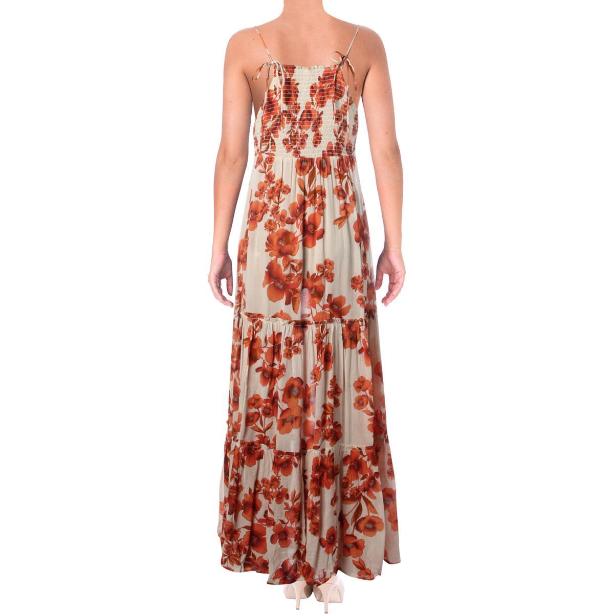 4c25cd1d8ef Free People Womens Floral Print Sleeveless Full-Length Maxi Dress ...
