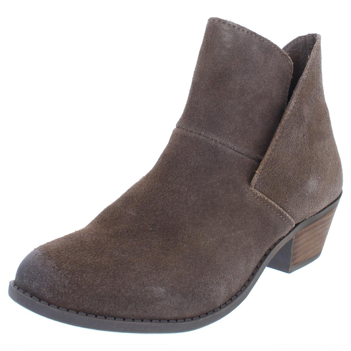 9c1e1015953 Details about Ruff Hewn Womens Easton Taupe Suede Ankle Booties Shoes 9  Medium (B