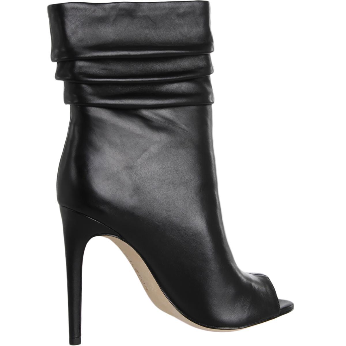 Halston Halston Halston Heritage femmes Sandra Pleated Open Toe Mid-Calf bottes chaussures BHFO 1749 1e342f