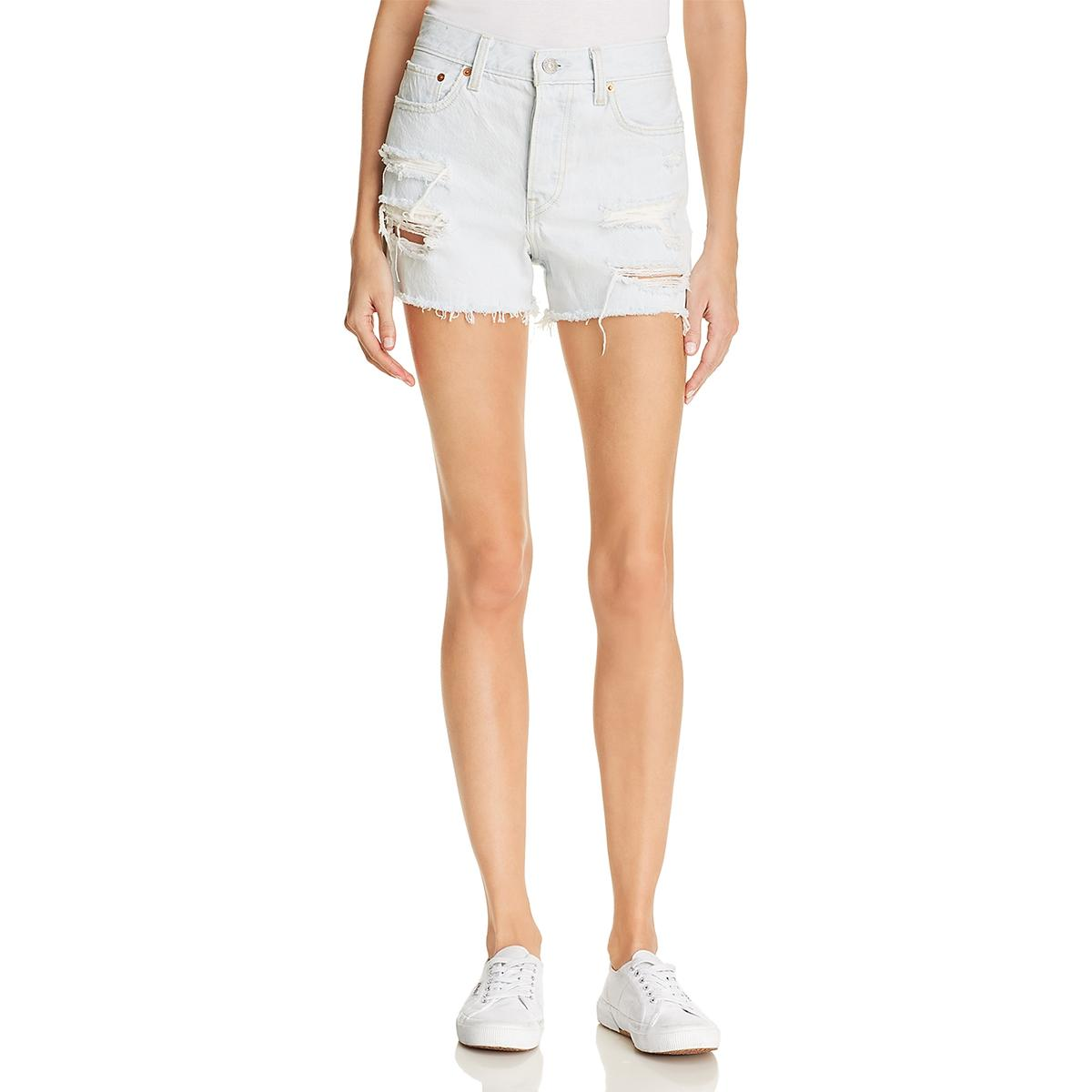 levi cut off high waisted shorts