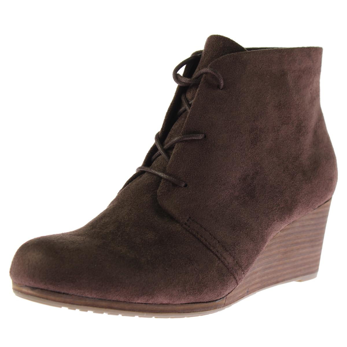 cacc235dd42 Details about Dr. Scholl s Womens Dakota Brown Boho Wedge Boots Shoes 6  Medium (B