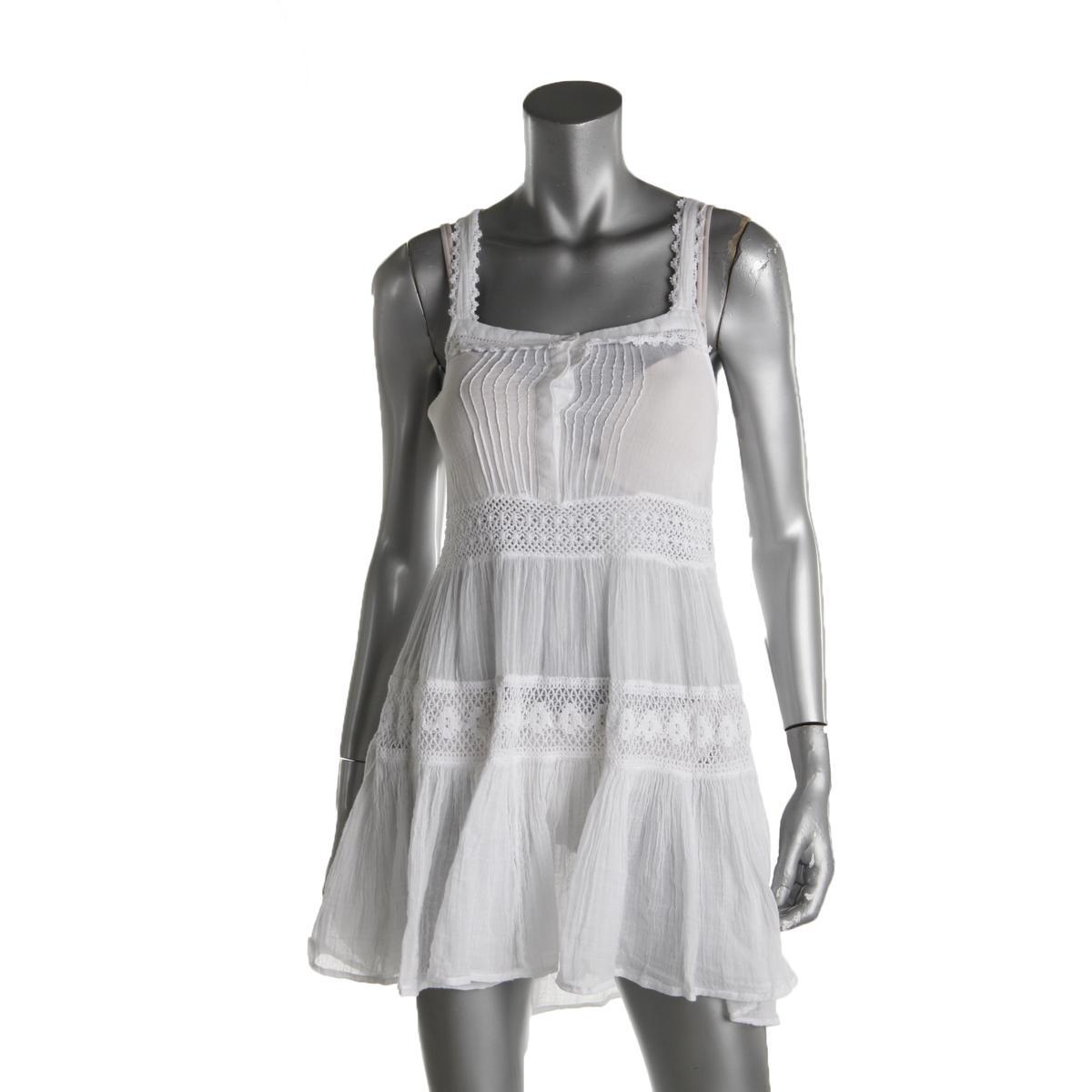 55e5299c374e0 Details about Polo Ralph Lauren Womens Kendall White Gauze Dress Swim Cover- Up XS BHFO 4324