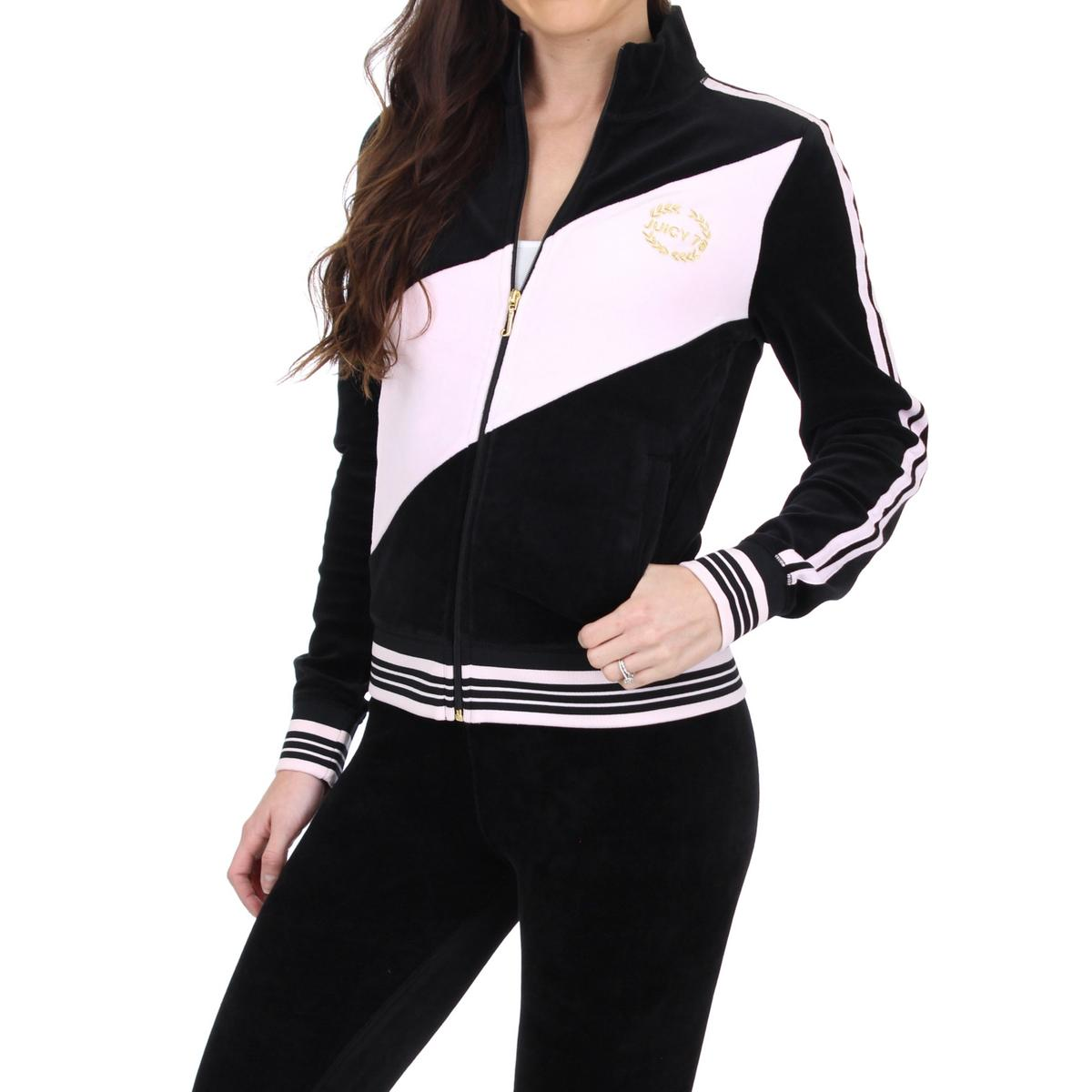 7dd2c763917a Details about Juicy Couture Black Label Womens Sporty Heritage Black Track  Jacket S BHFO 1689