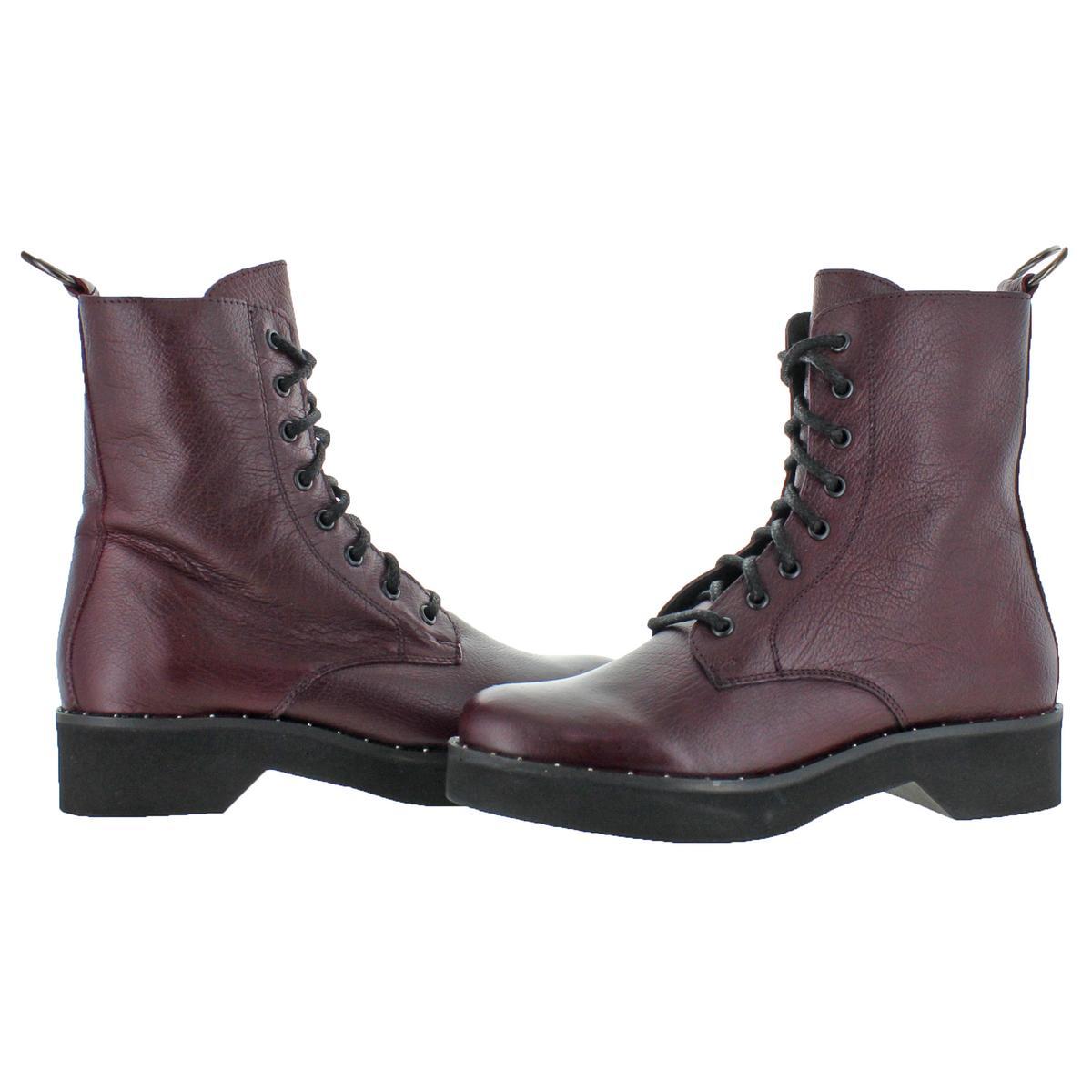 b95549e6d7c Details about Steve Madden Womens Rocco Red Combat Boots Shoes 7.5 Medium  (B