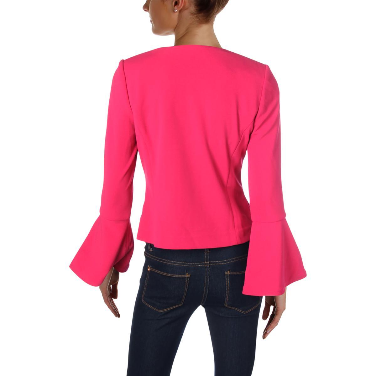 8098 à Bhfo Petites de usage femme Calvin Veste Klein vestimentaire pour manches bureau Blazer 7BWOfc4