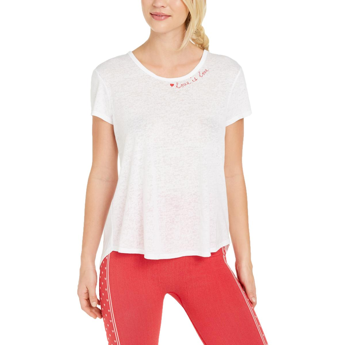 Ideology Womens Trust The Universe  Graphic Yoga Tee T-Shirt BHFO 7307
