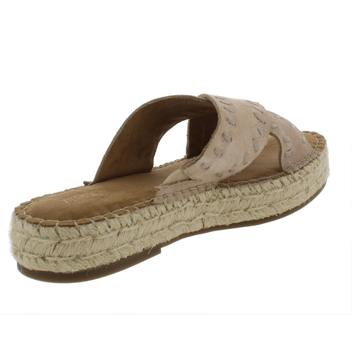 8632996b8a5 Aerosoles Womens Rose Gold Flatform Sandals Leisure Espadrilles ...