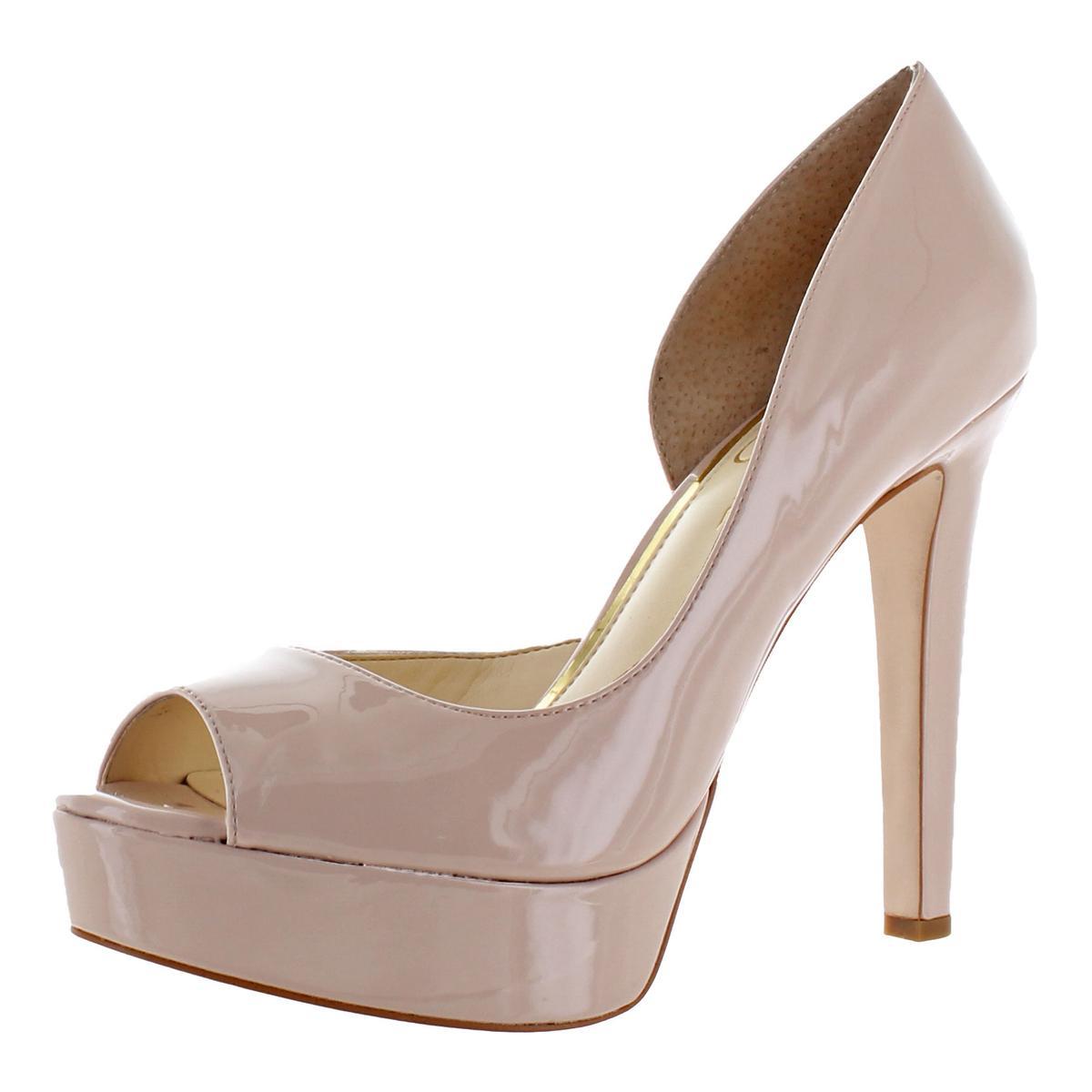 Jessica-Simpson-Martella-Women-039-s-Almond-Peep-Toe-Stiletto-d-039-Orsay-Heels-Shoes thumbnail 2