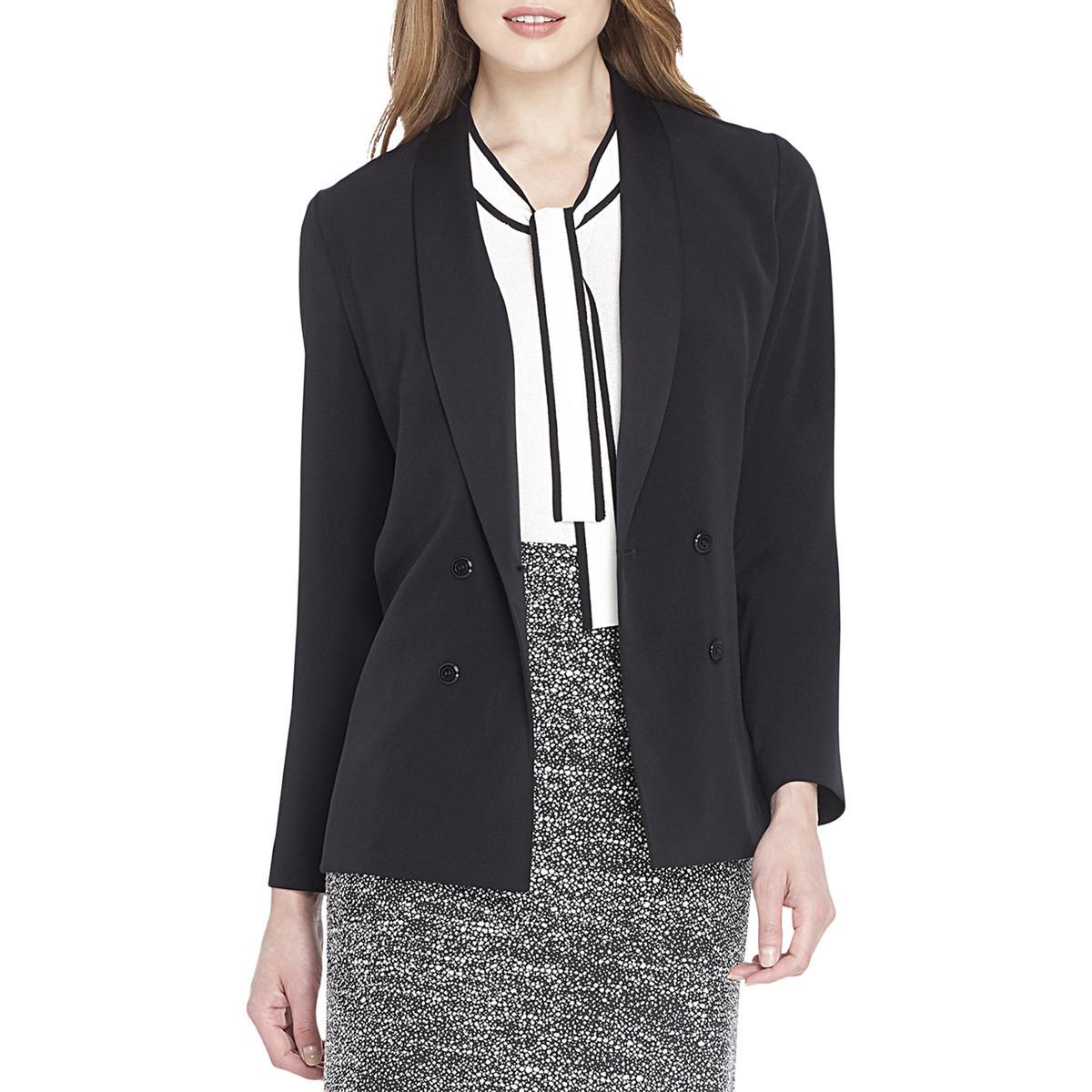 b0b6f8edf64e Details about Tahari ASL Womens Satin Trim Work Wear Business Blazer BHFO  5362