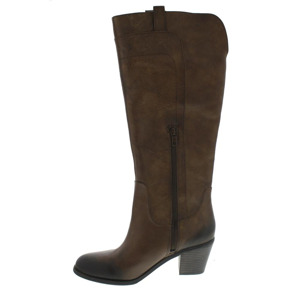 arturo chiang narissa brown western heels knee high boots