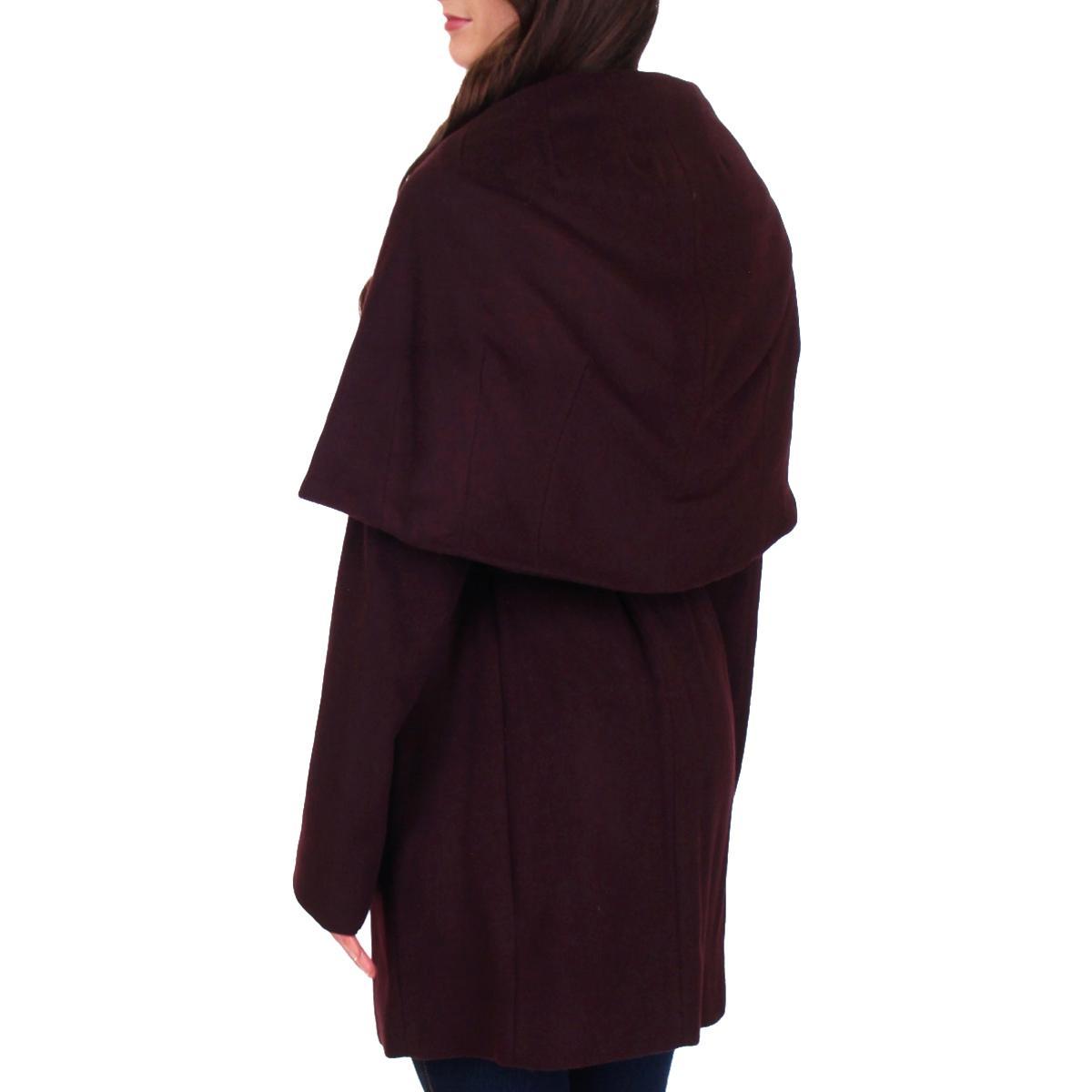 T-Tahari-Marla-Women-s-Oversized-Collar-Wool-Wrap-Coat thumbnail 4