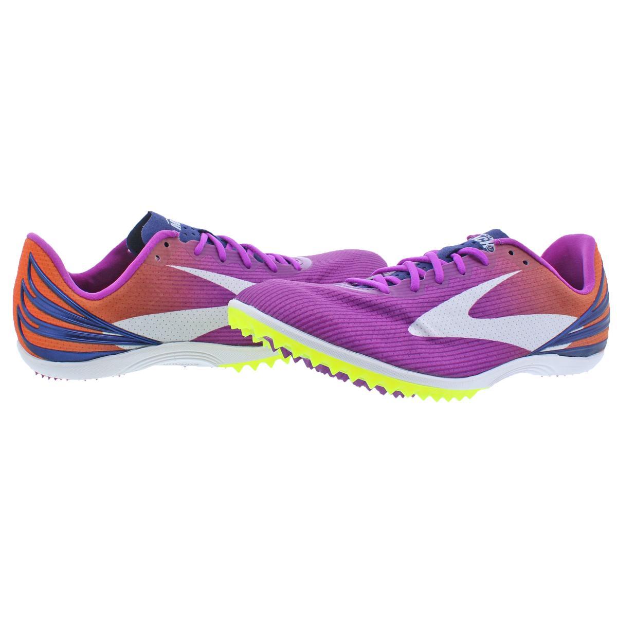 d1b5639f89158 Details about Brooks Womens Mach 17 Spike Purple Track Running Shoes 6  Medium (B