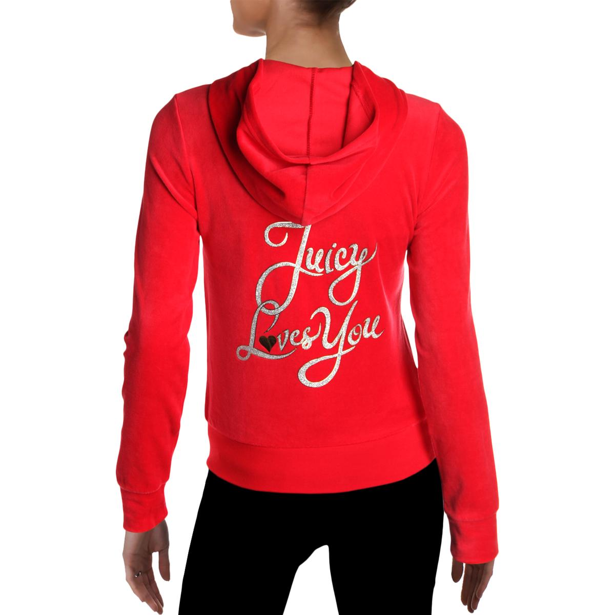 Juicy-Couture-Black-Label-Womens-Love-Robertson-Velour-Track-Jacket-BHFO-5236 miniatuur 6