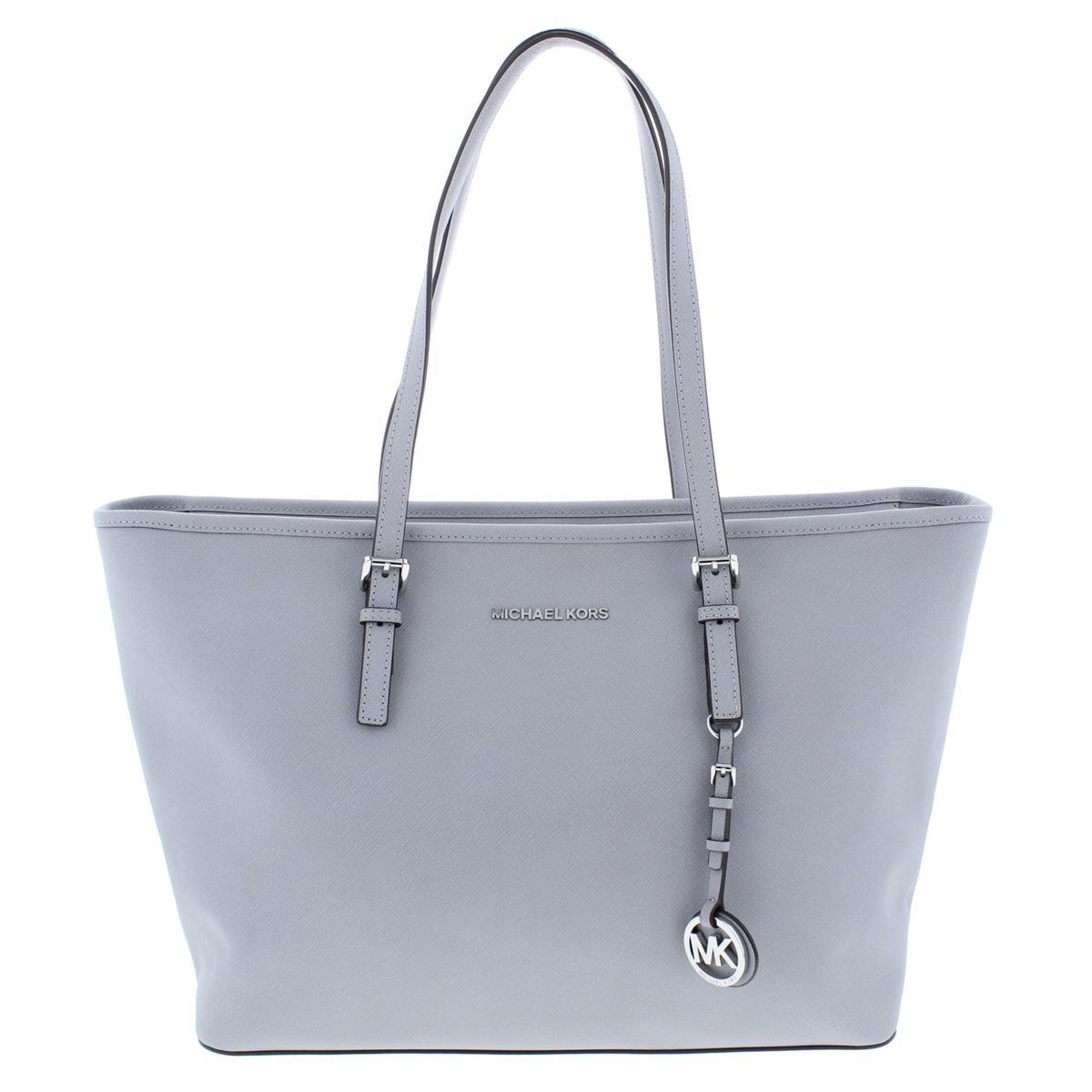 7070d63d2b3bd Details about MICHAEL Michael Kors Womens Jet Set Gray Tote Handbag Purse  Large BHFO 5738