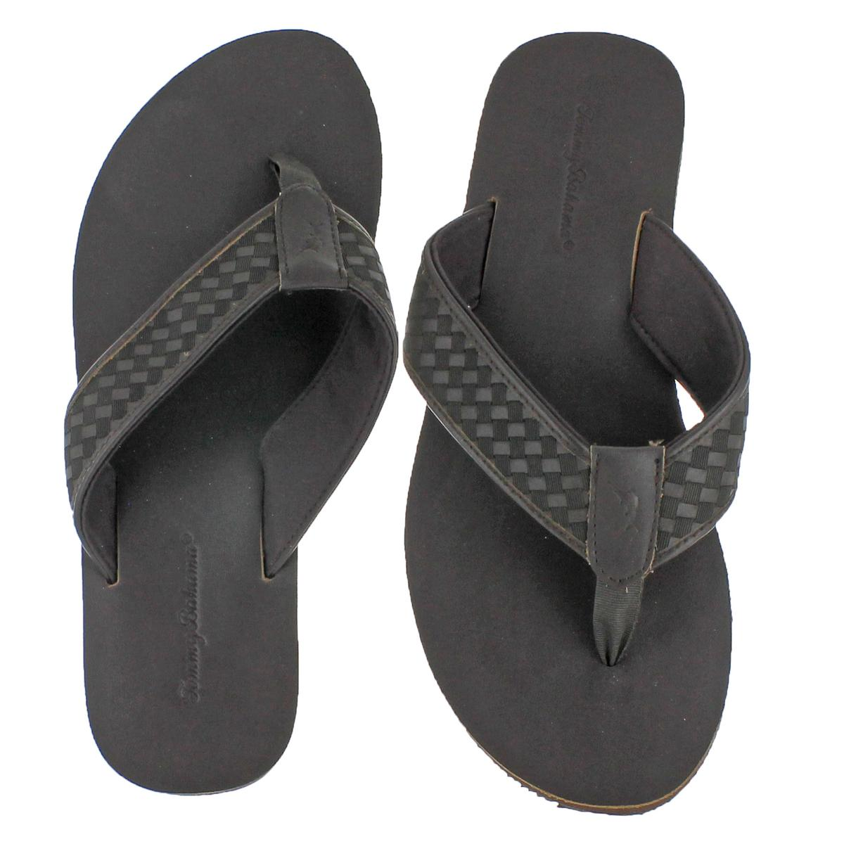 3529bd0770bc81 Tommy Bahama Waldon Men s Woven Leather Flip Flop Sandals