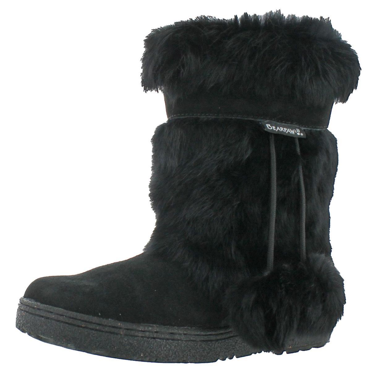 425de62976896 Details about Bearpaw Womens Tama II Black Suede Winter Boots Shoes 6  Medium (B,M) BHFO 0205