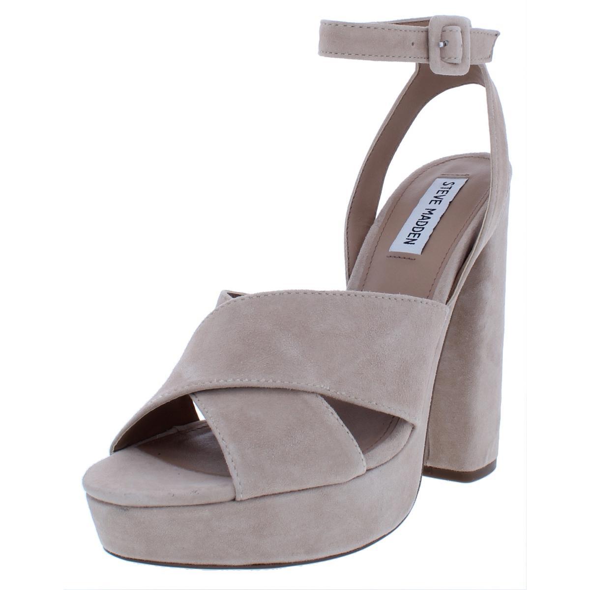006700346796 Steve Madden Womens Jodi Beige Platform Sandals Heels 10 Medium (B