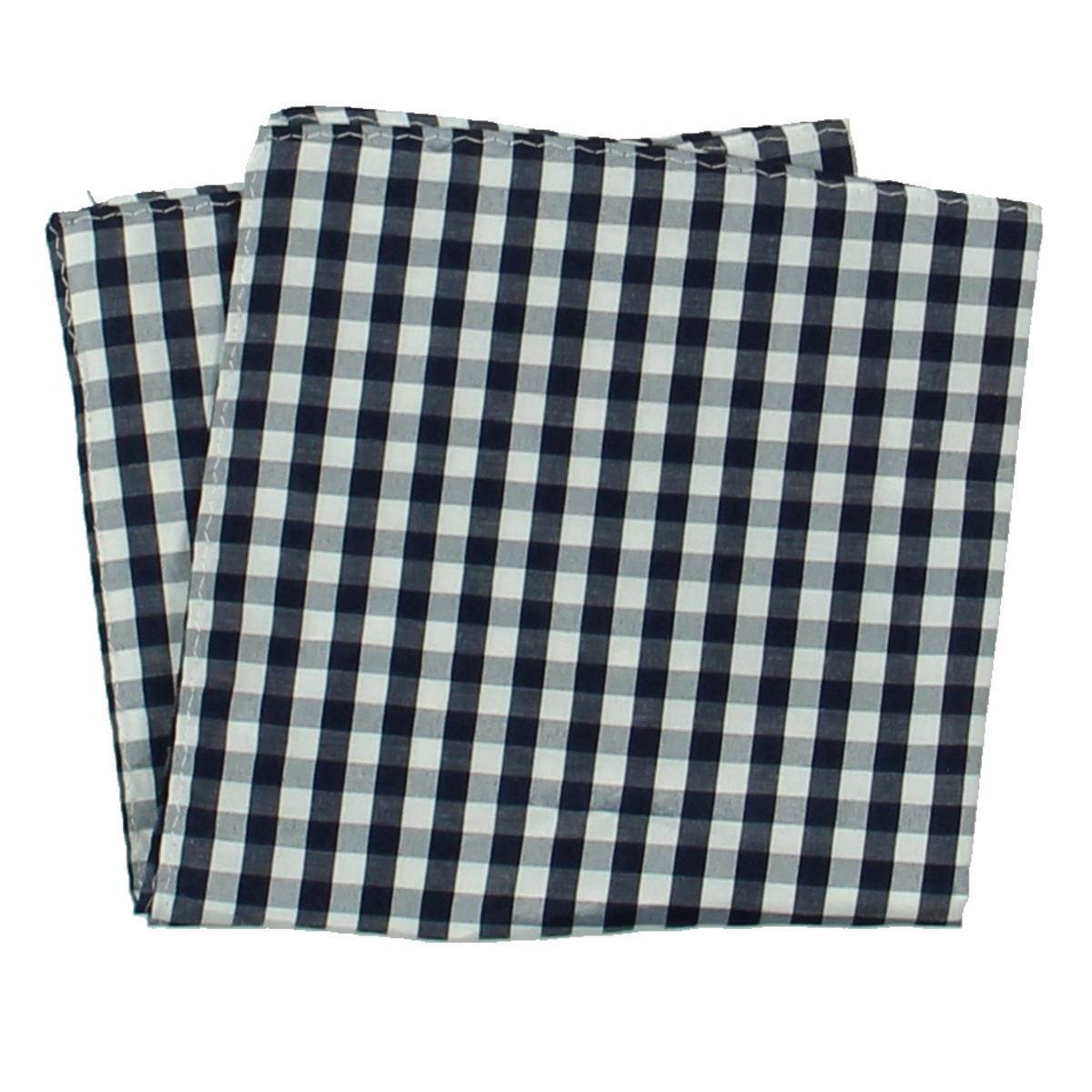 0cb8d2ac78 Details about Club Room Mens Navy Plaid Gingham Handkerchief Pocket Square  O S BHFO 3403