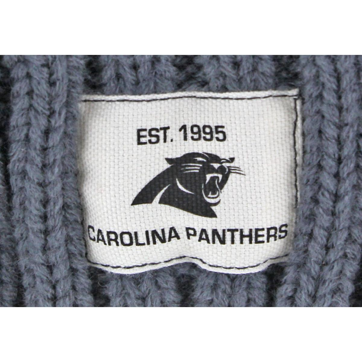 New Era Mens Gray Carolina Panthers Cable Knit Cuffed Beanie Hat O S ... 9808b5d87