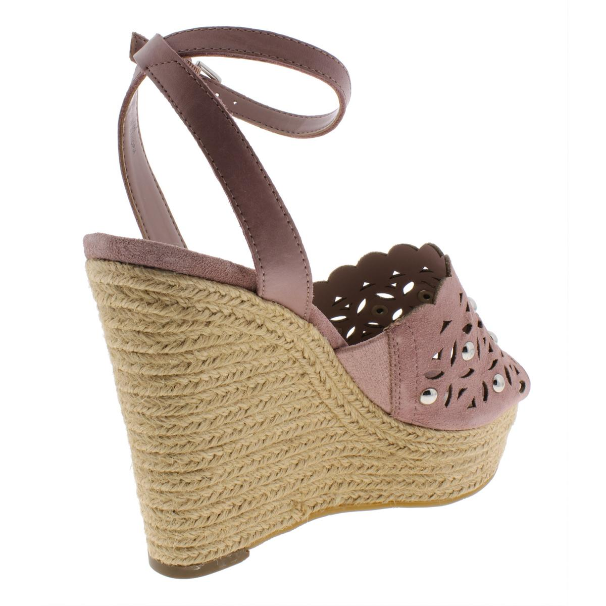 Marc-Fisher-Womens-Hata-Suede-Wedges-Embellished-Espadrilles-Shoes-BHFO-6455 thumbnail 11