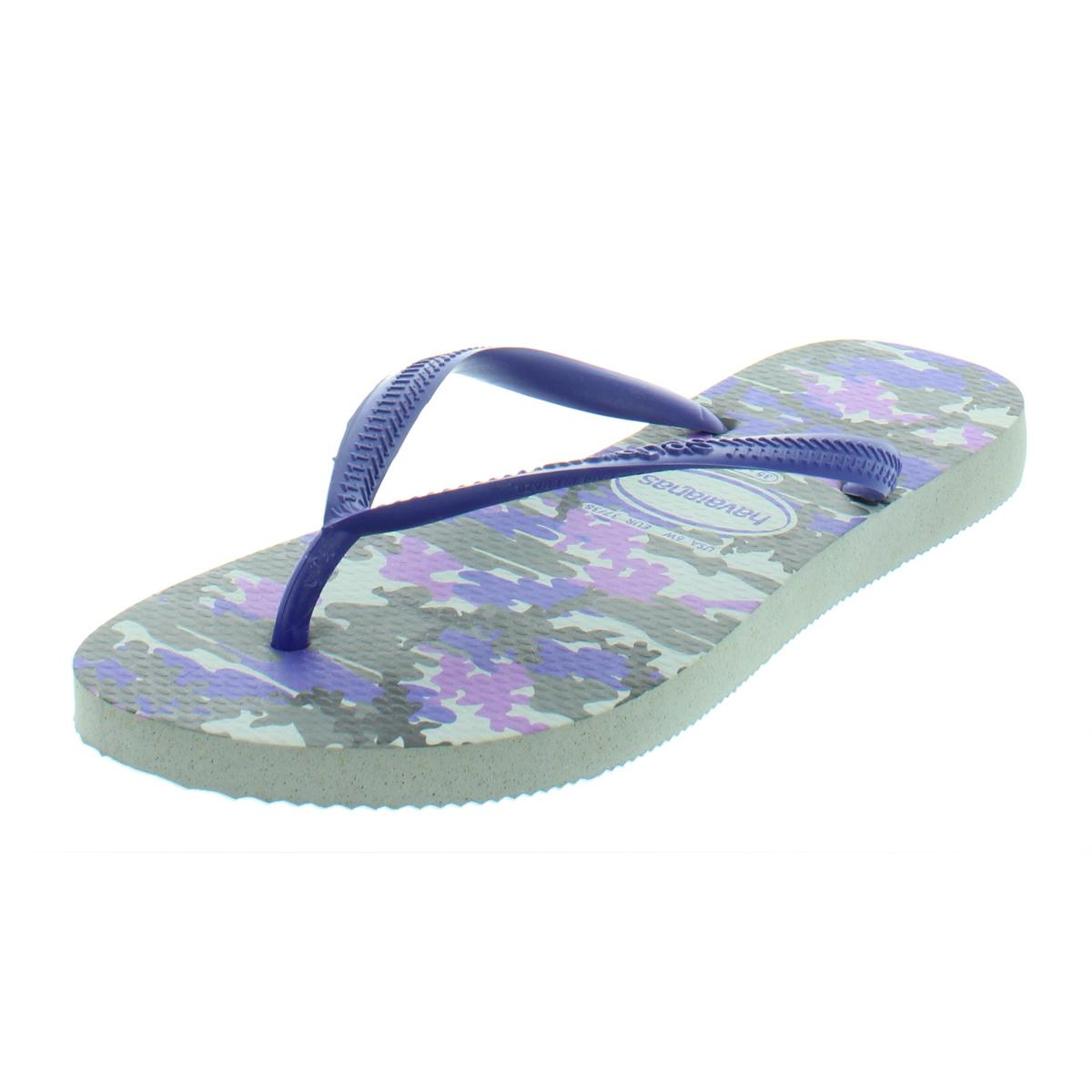 83bf4828fa278 Details about Havaianas Womens Ice Grey Multi Thongs Flip-Flops Shoes 6  Medium (B