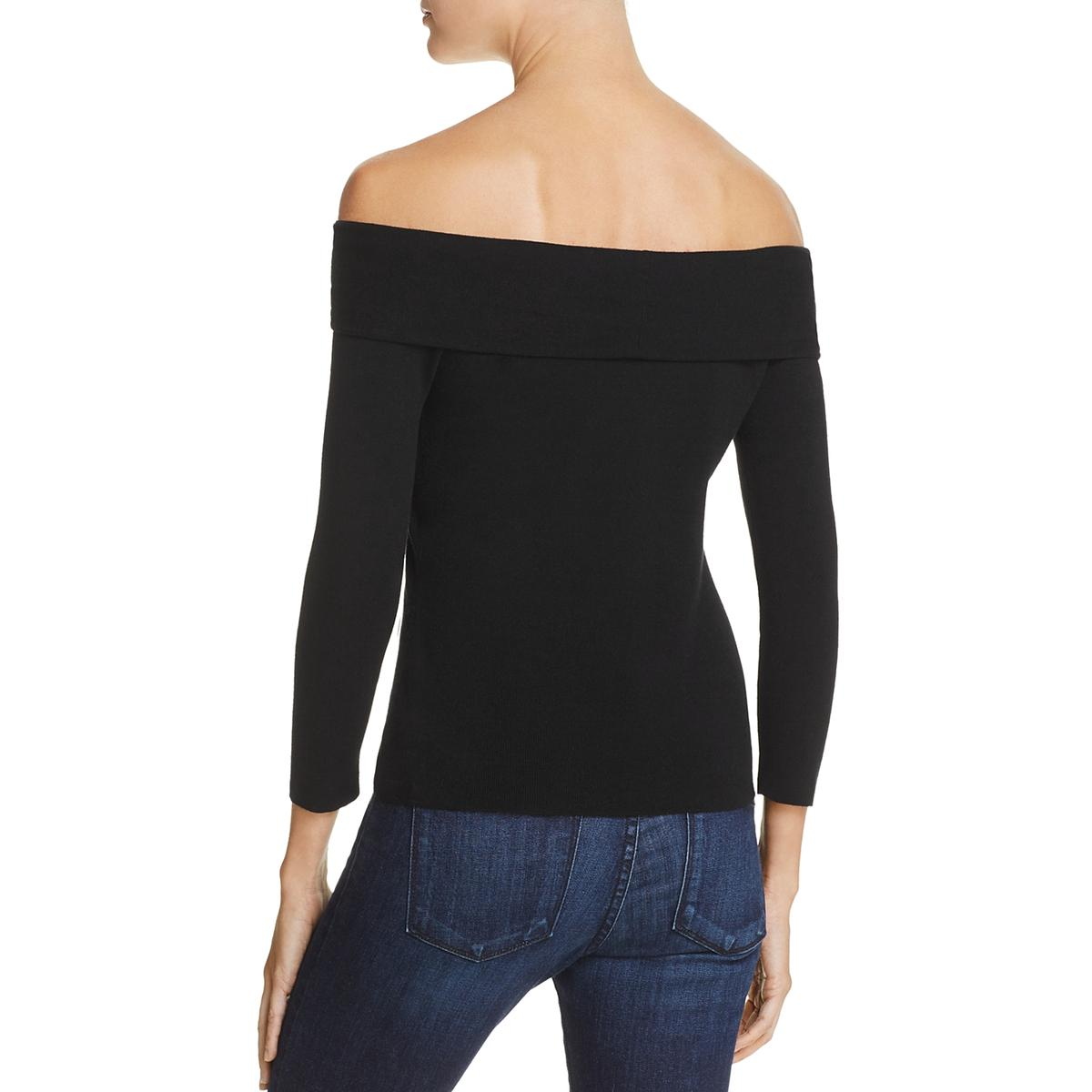 33e9ab44b5c63 Details about Milly Womens Off-The Shoulder Three-Quarter Sleeve Knit Top  Shirt BHFO 2412