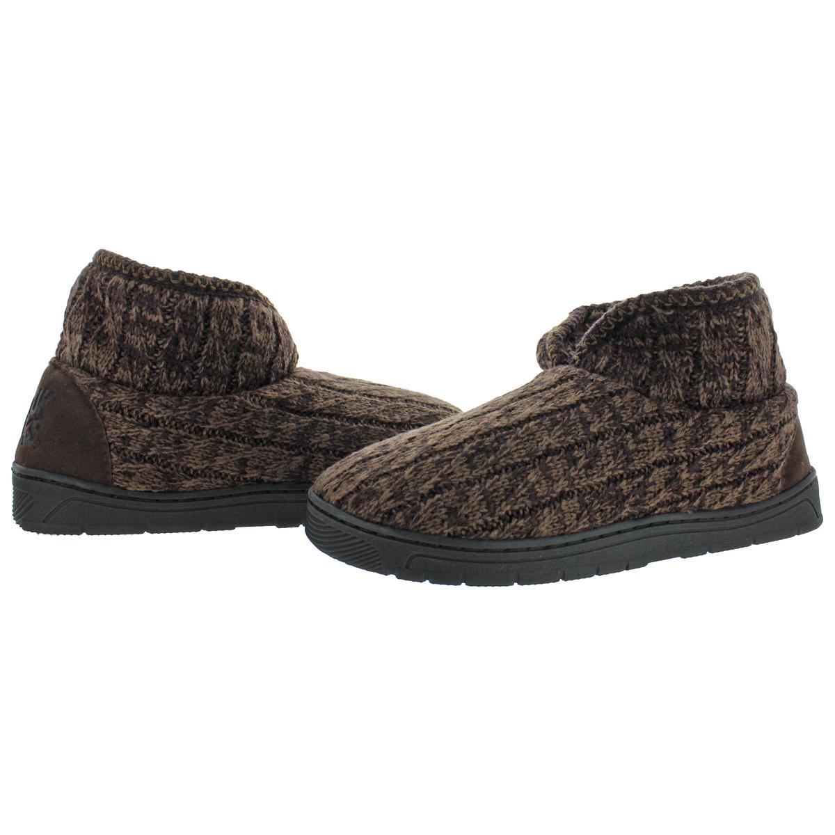 Mukluks-Men-039-s-Mark-Sweater-Knit-Furpa-Ankle-Bootie-House-Slippers thumbnail 28