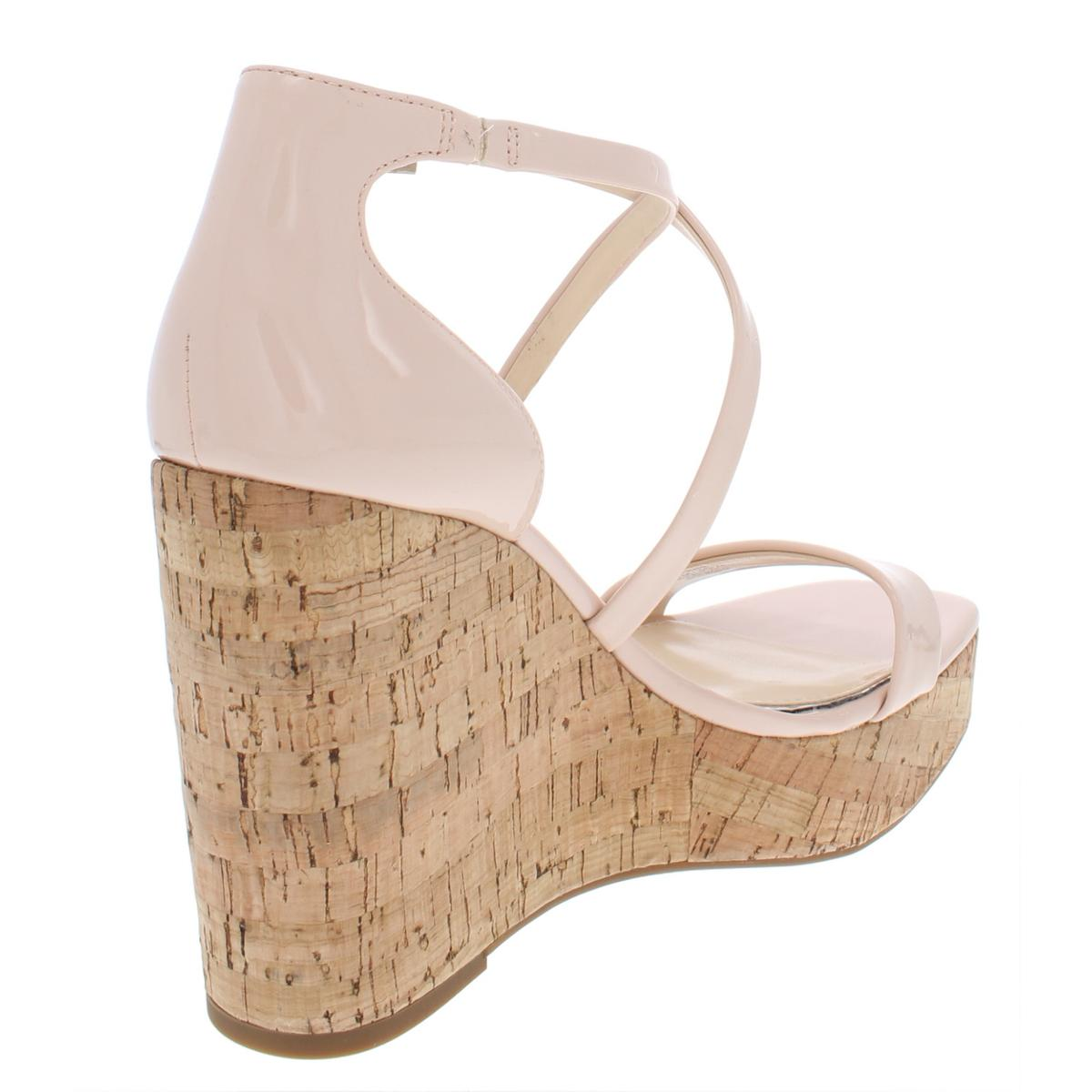 Jessica-Simpson-Womens-Stassi-Solid-Platform-Wedges-Sandals-BHFO-6733 thumbnail 4