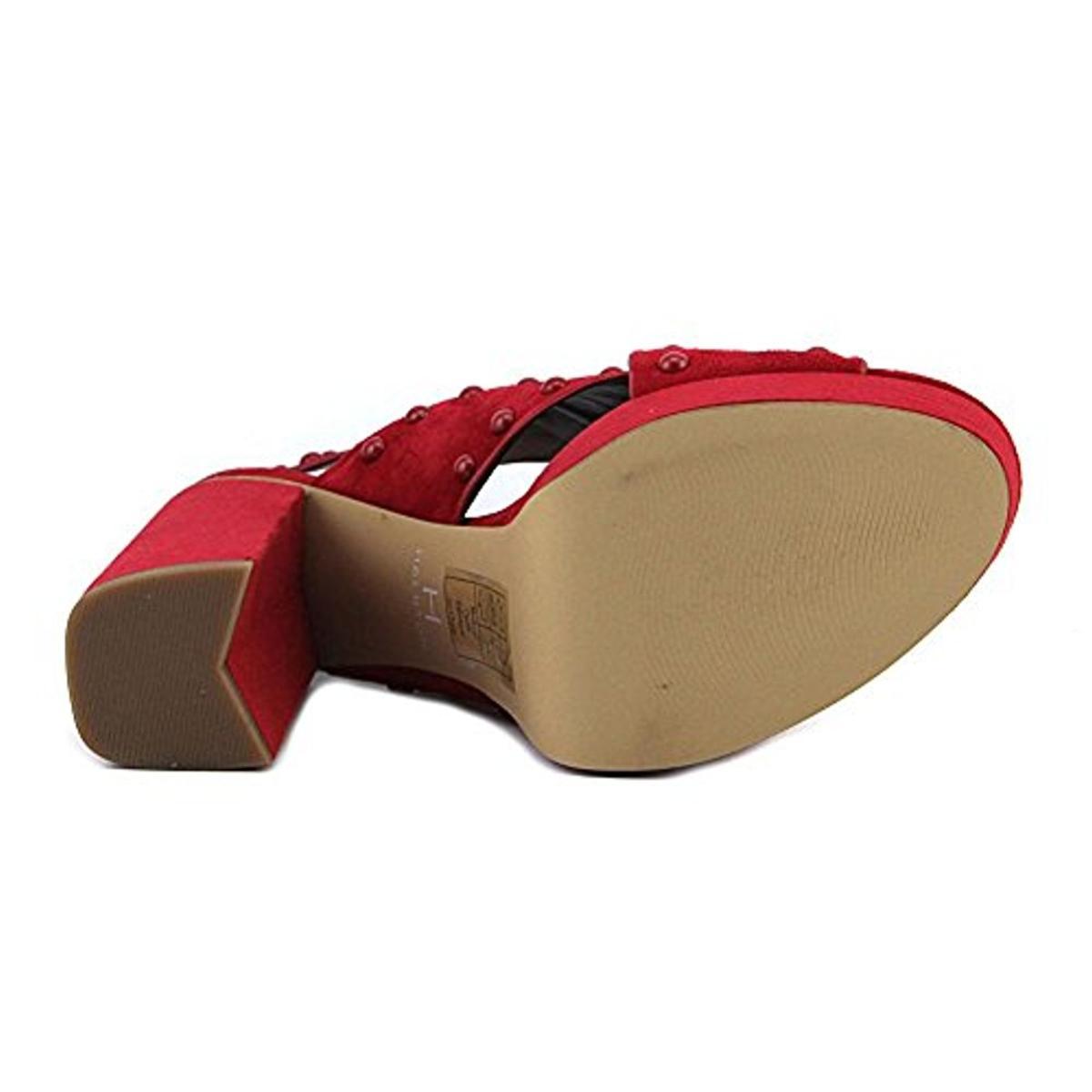 H Halston Damenschuhe Bailey Criss Cross Block Heel Platform Sandales Schuhes BHFO 2810
