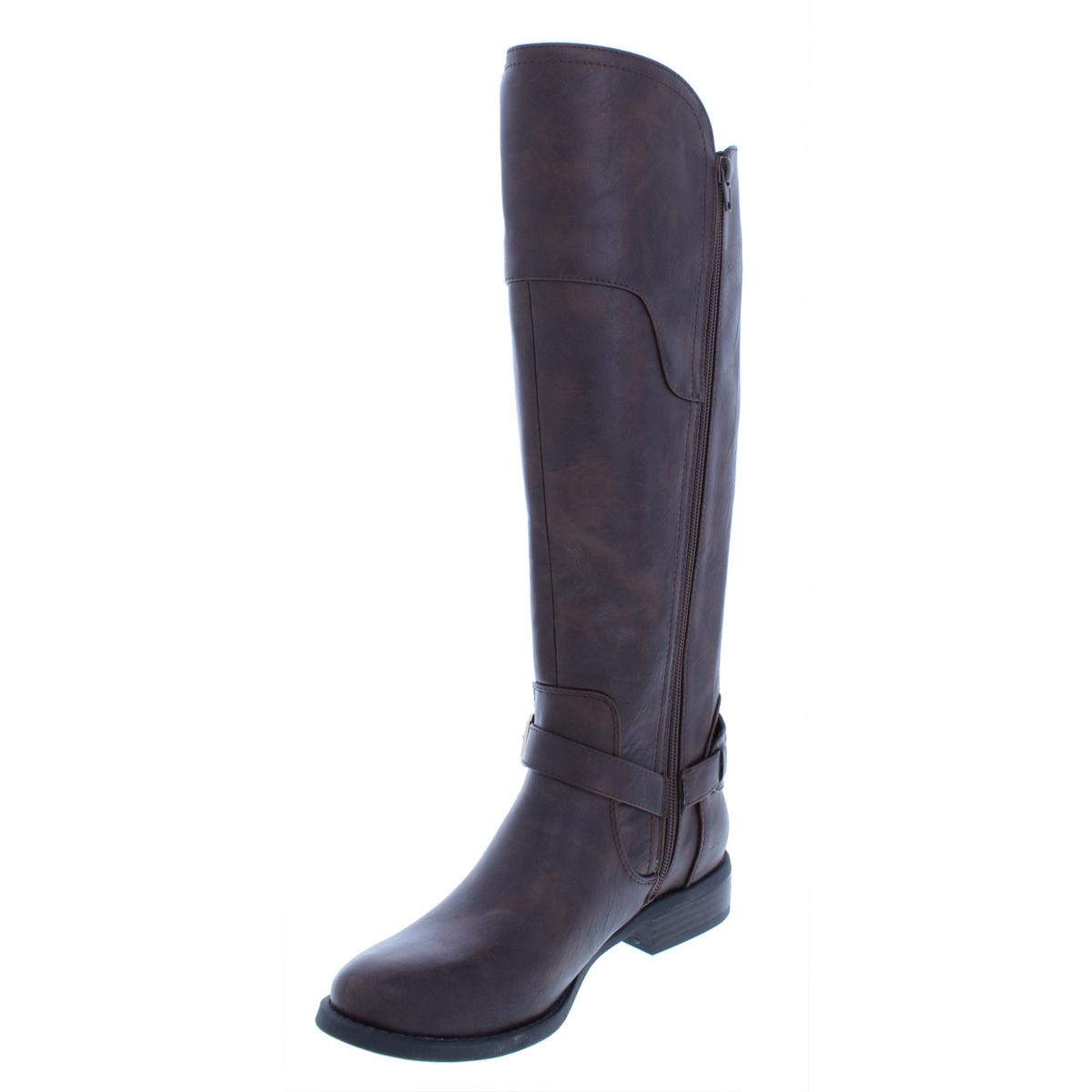bcf34118c87 Details about G by Guess Womens Harson Faux Leather Riding Over-The-Knee  Boots Shoes BHFO 4599