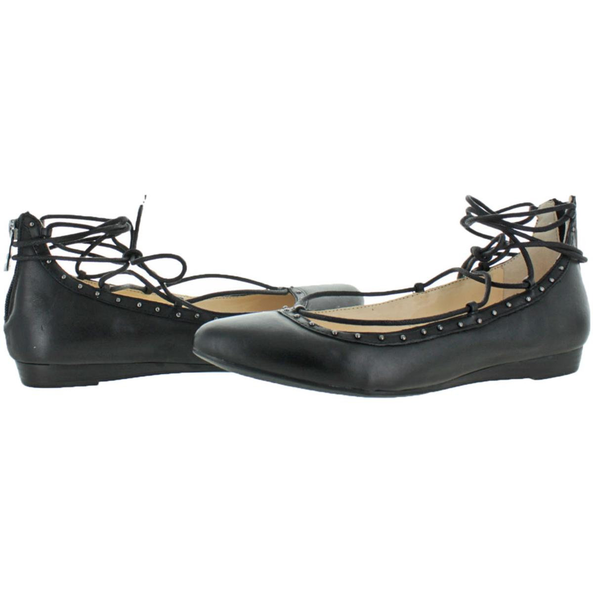Jessica-Simpson-Women-039-s-Libra-Leather-Pointed-Toe-Ballet-Flat thumbnail 6