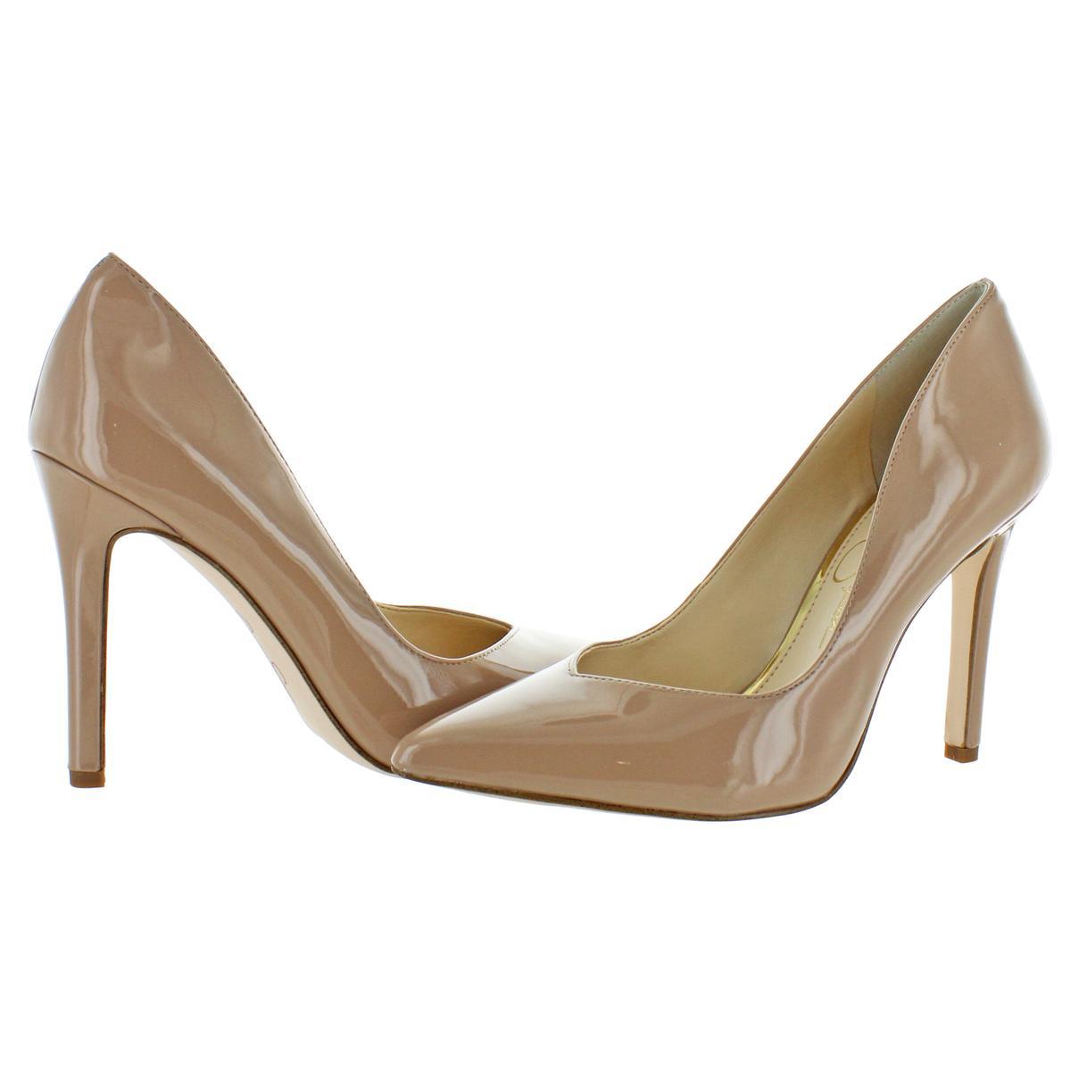Jessica-Simpson-Women-039-s-Cylvie-Metallic-V-Cut-Classic-Pumps-Heels-Shoes thumbnail 8